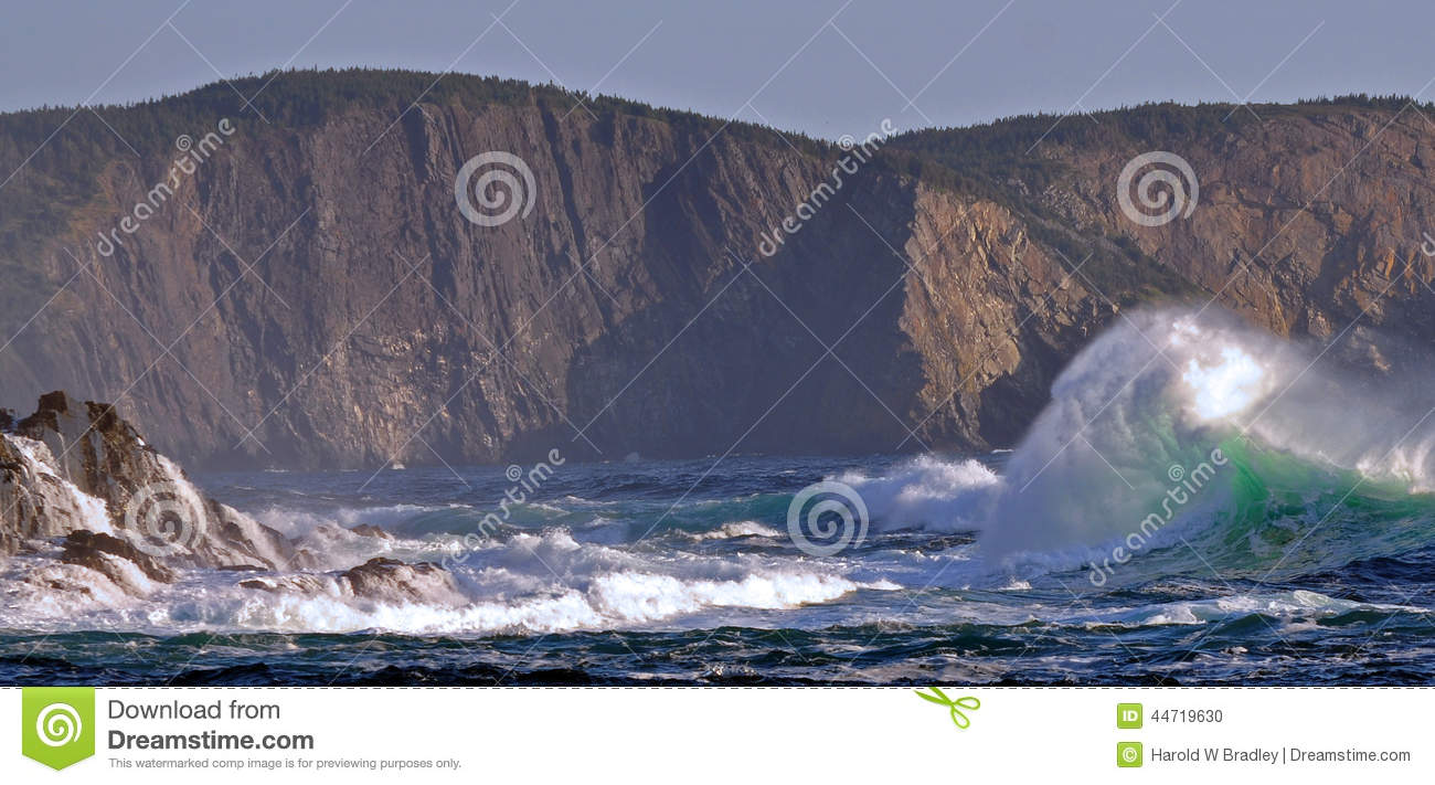 storm waves in eastern coast of grand banks in newfoundland stock photo image 44719630. Black Bedroom Furniture Sets. Home Design Ideas
