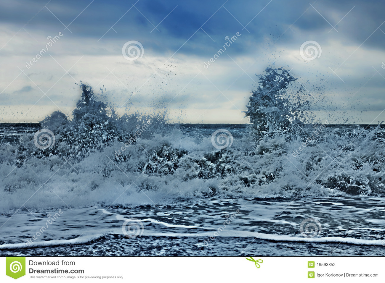 Storm Waves At Sea Stock Photography - Image: 19593852
