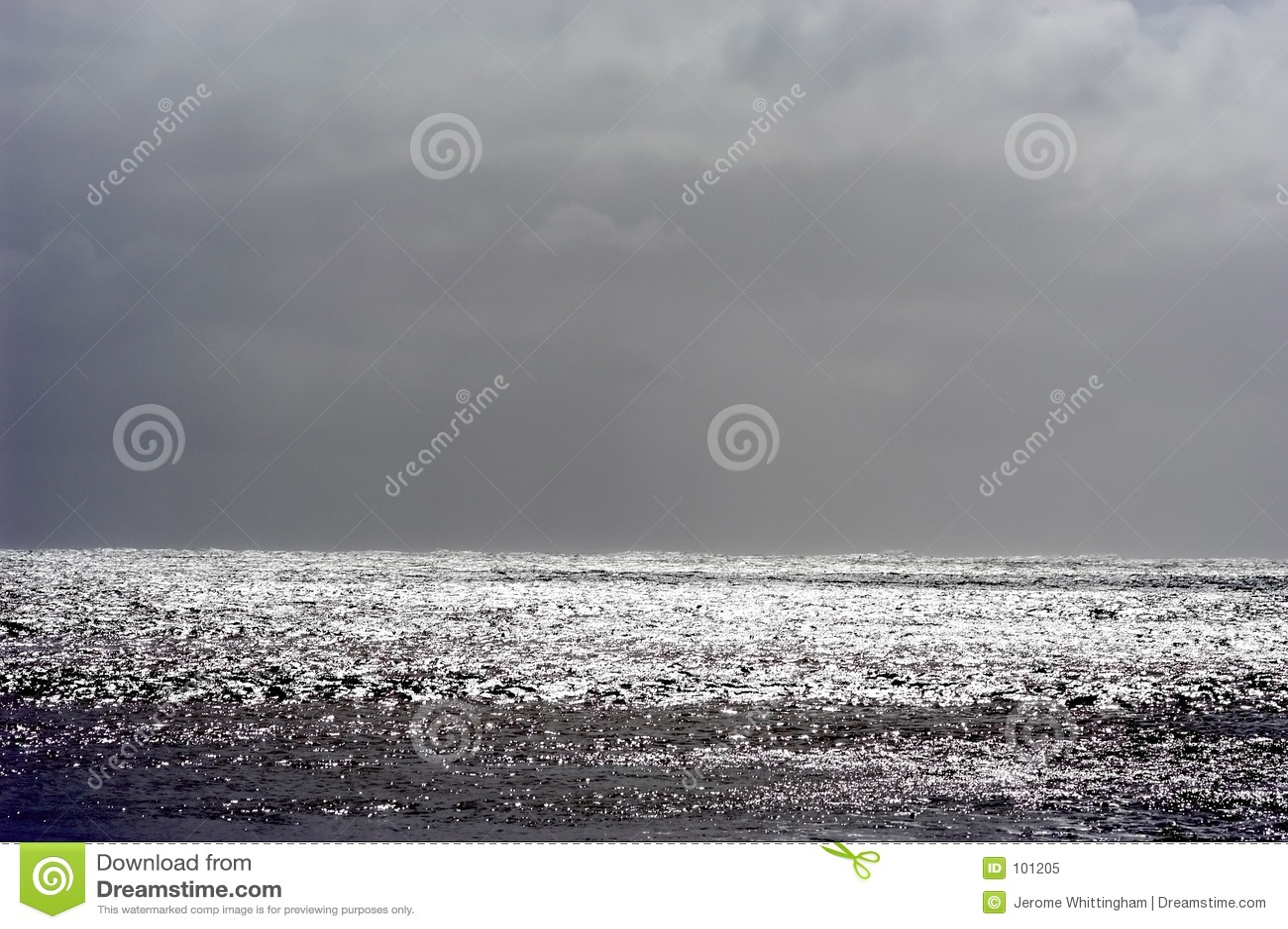 Stormachtig horizontaal zeegezicht,
