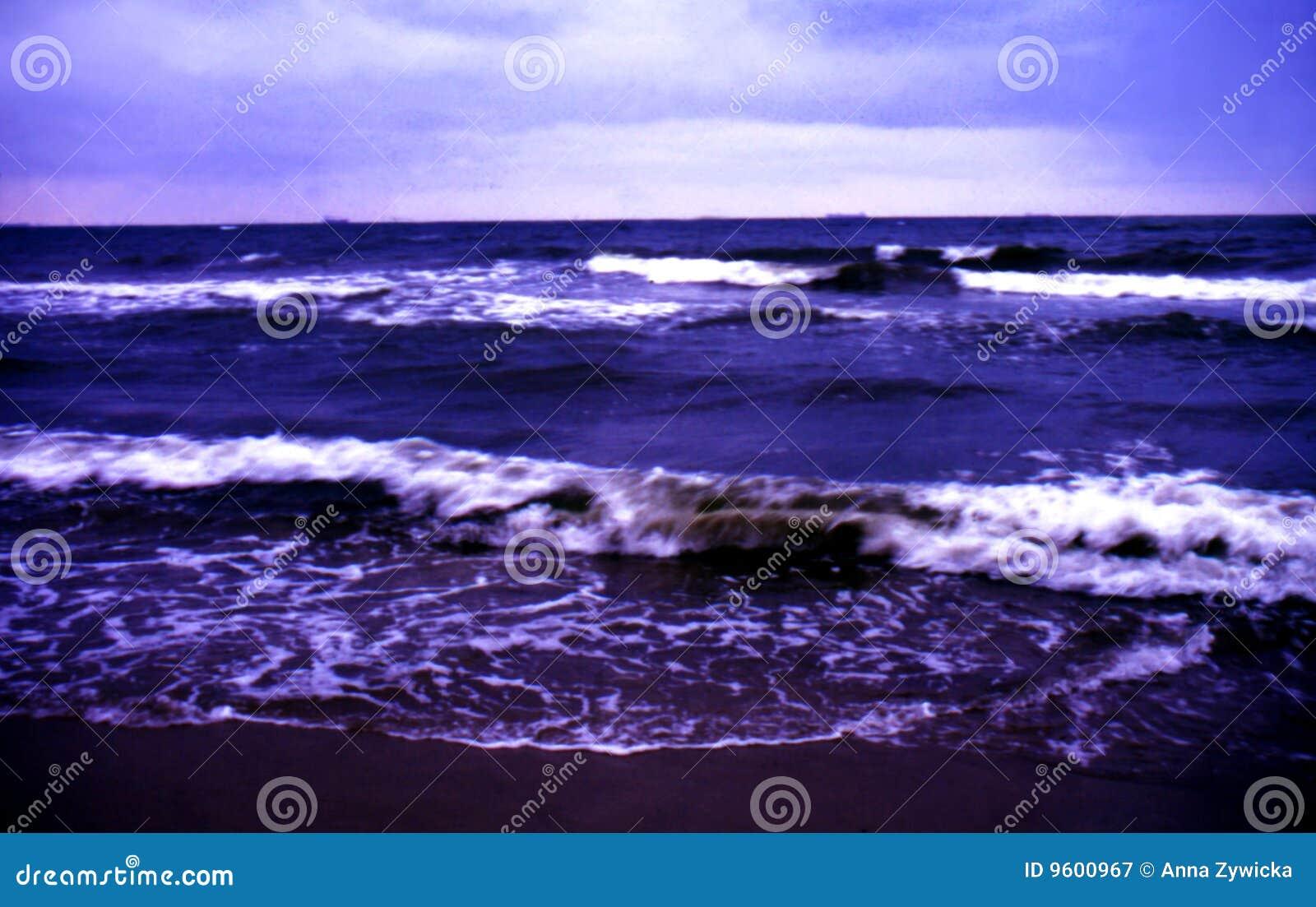 Stormigt aftonhav
