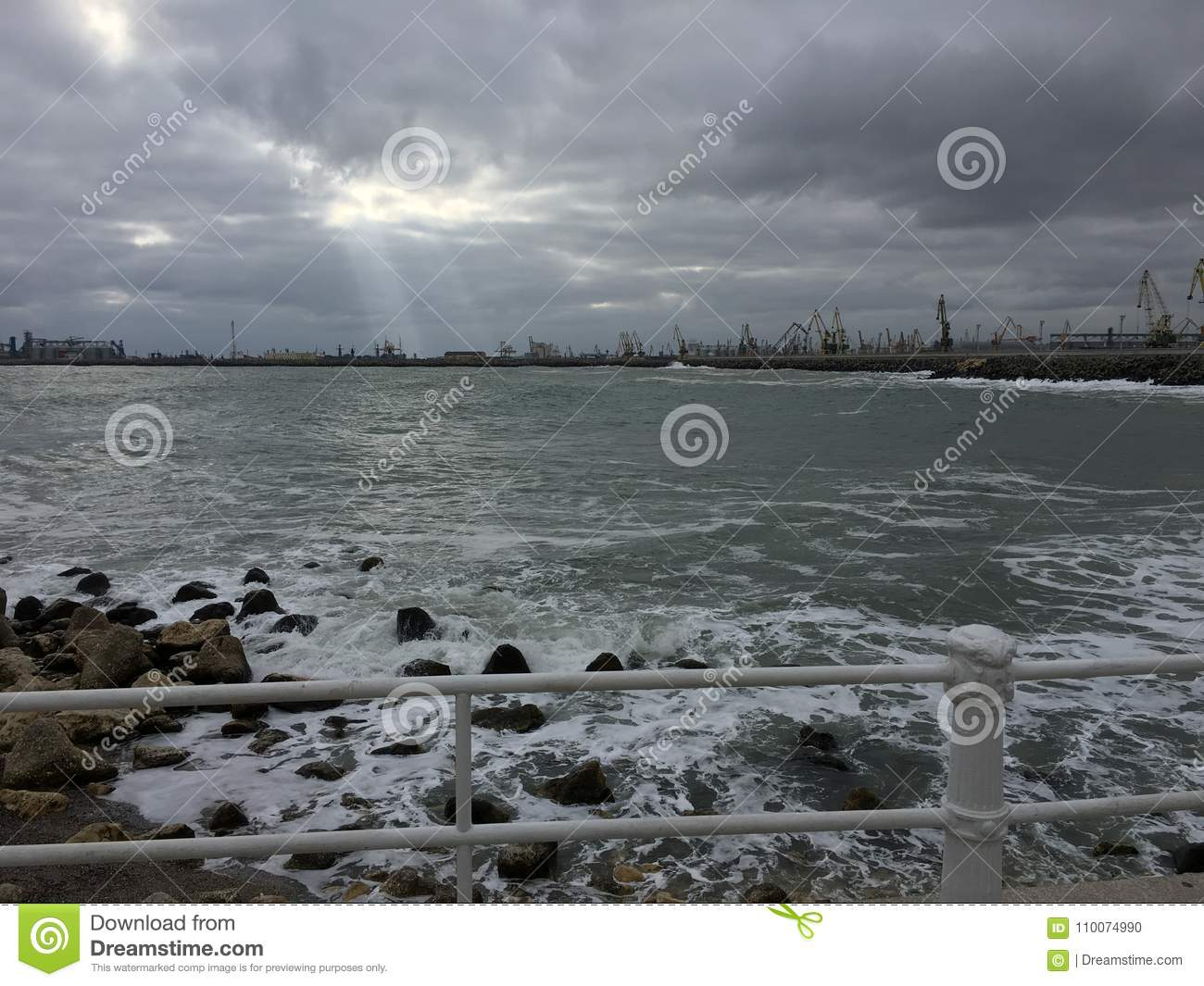 Stormy Black Sea in winter