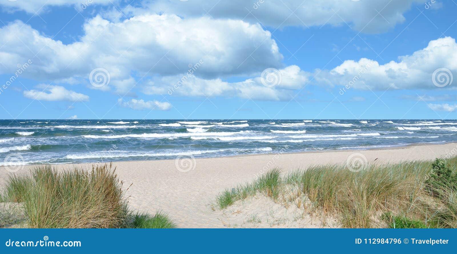 Stormy Day at Beach of Baabe,Ruegen,Germany