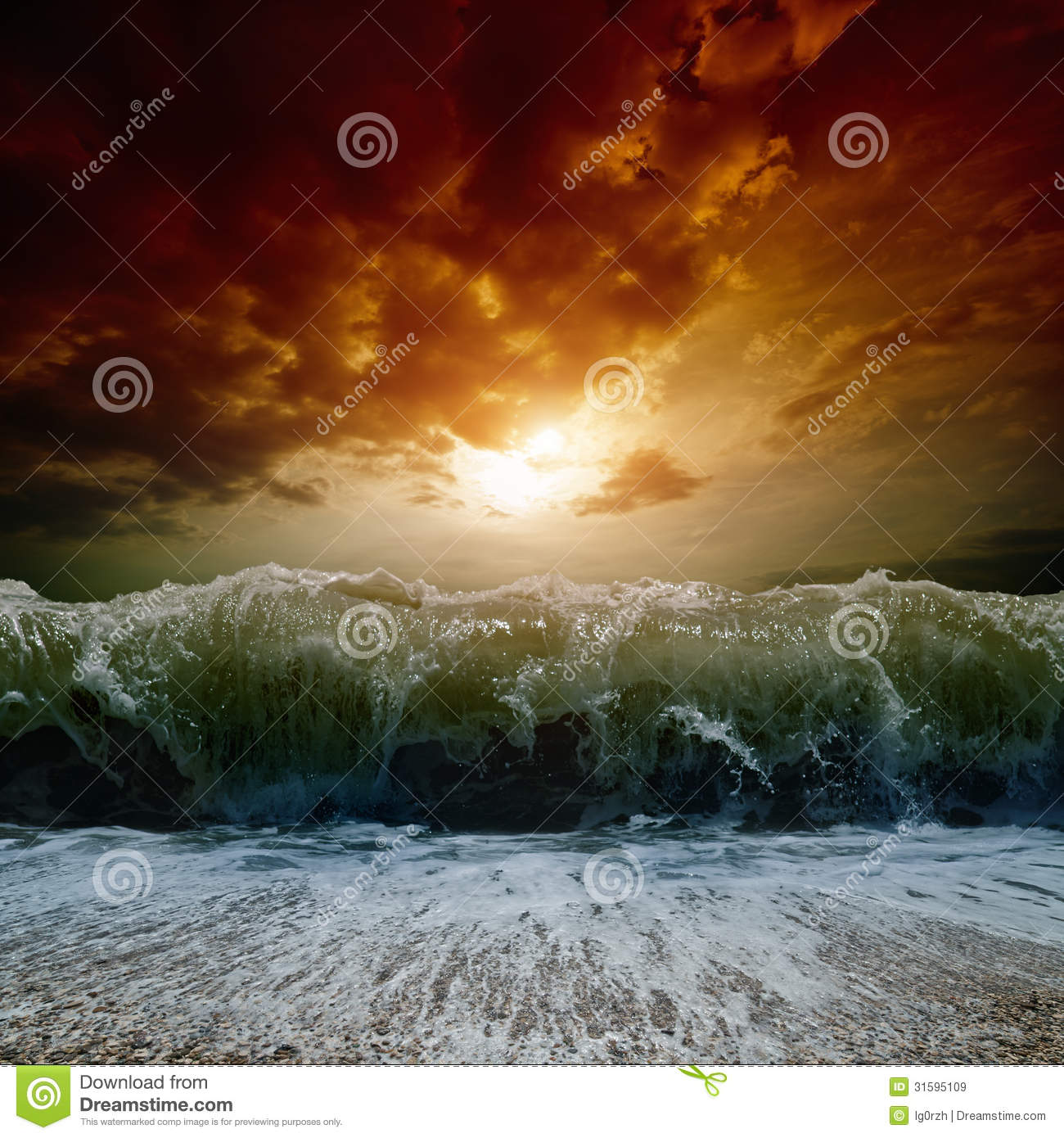 Stormy Sea Sunset Stock Image Image Of Nature Outdoor