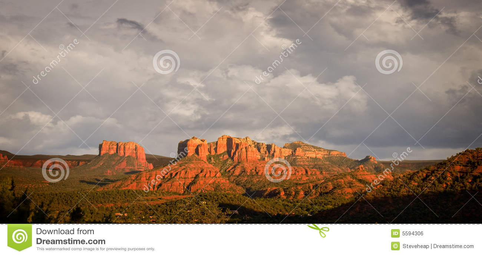 Stormy view of Sedona hills