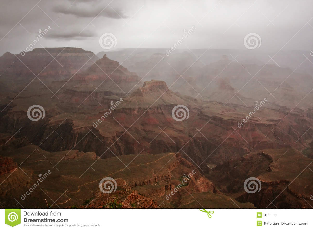 Stormy Weather At The Grand Canyon Stock Image Image Of