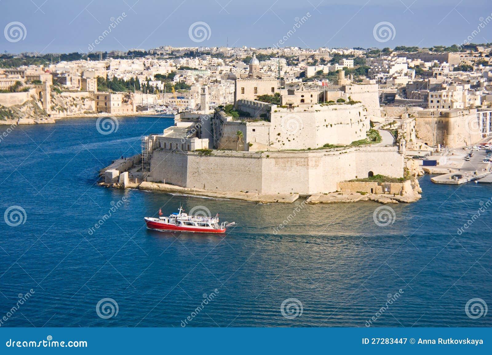 Storslagen hamn, Valletta, capital av Malta