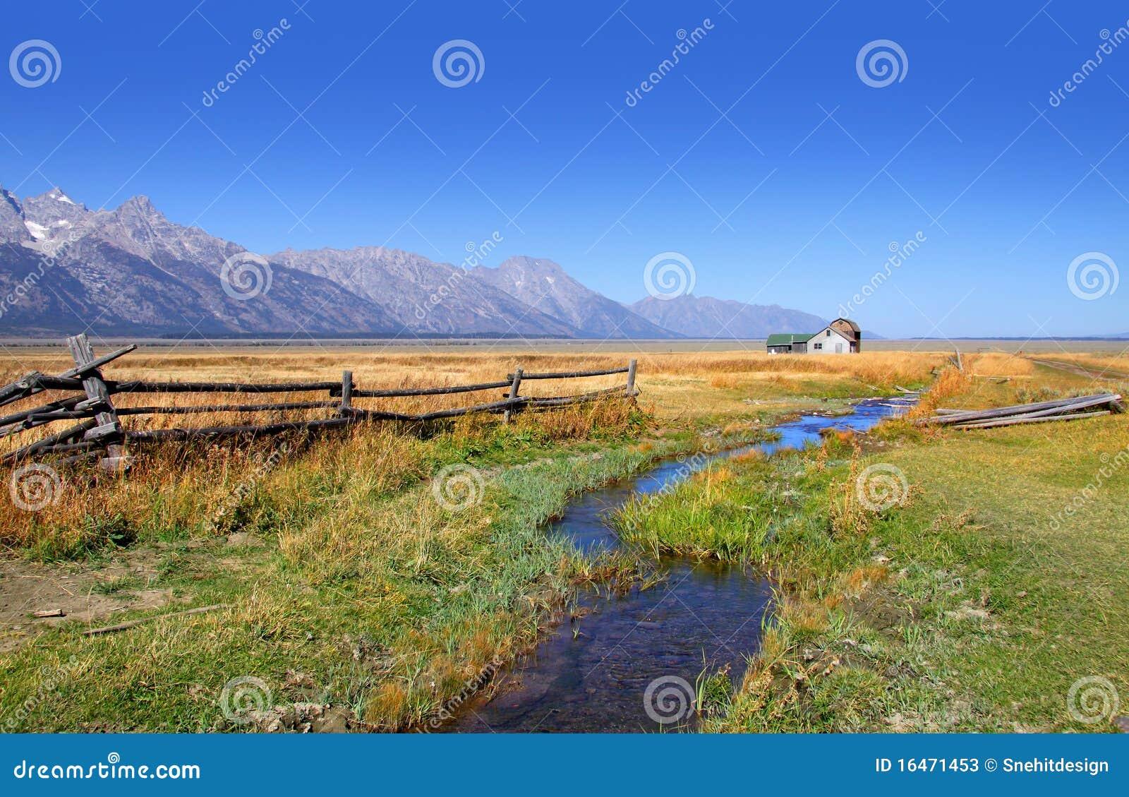 Storslagna gammala tetons för ladugårdar