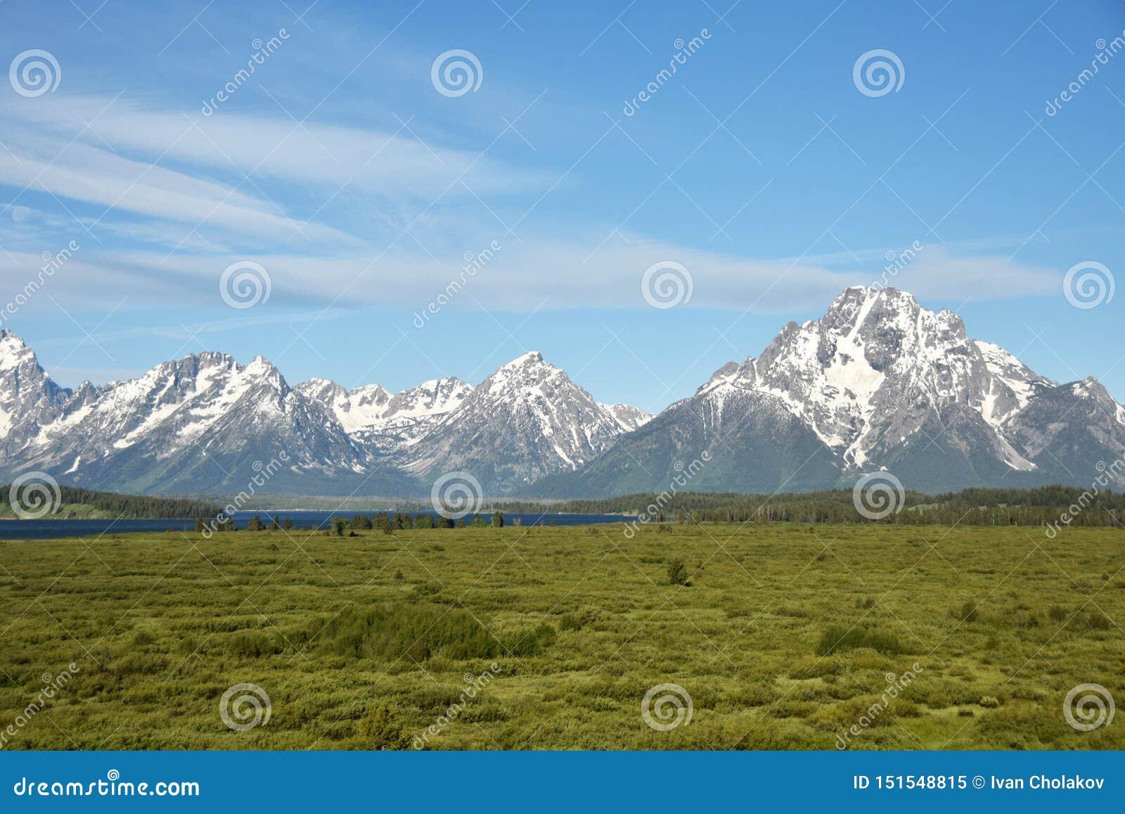 Storslagna Tetons i Wyoming