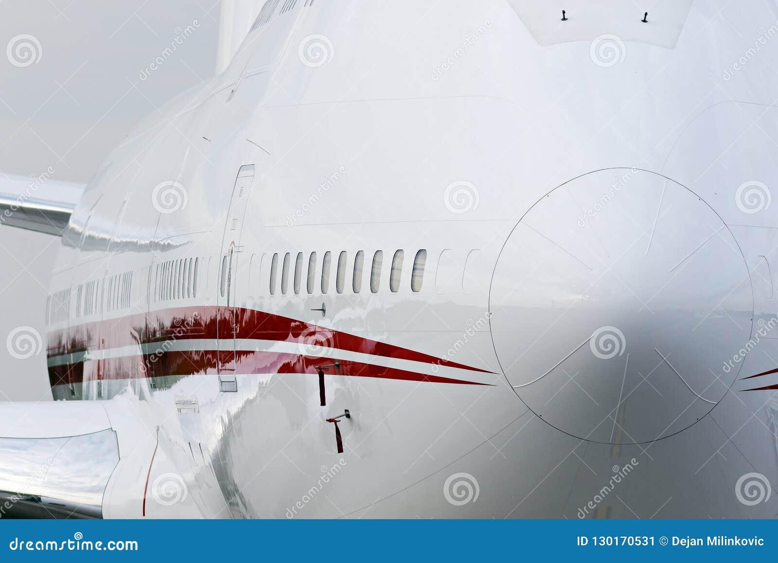 Stort flygplan för företags stråle