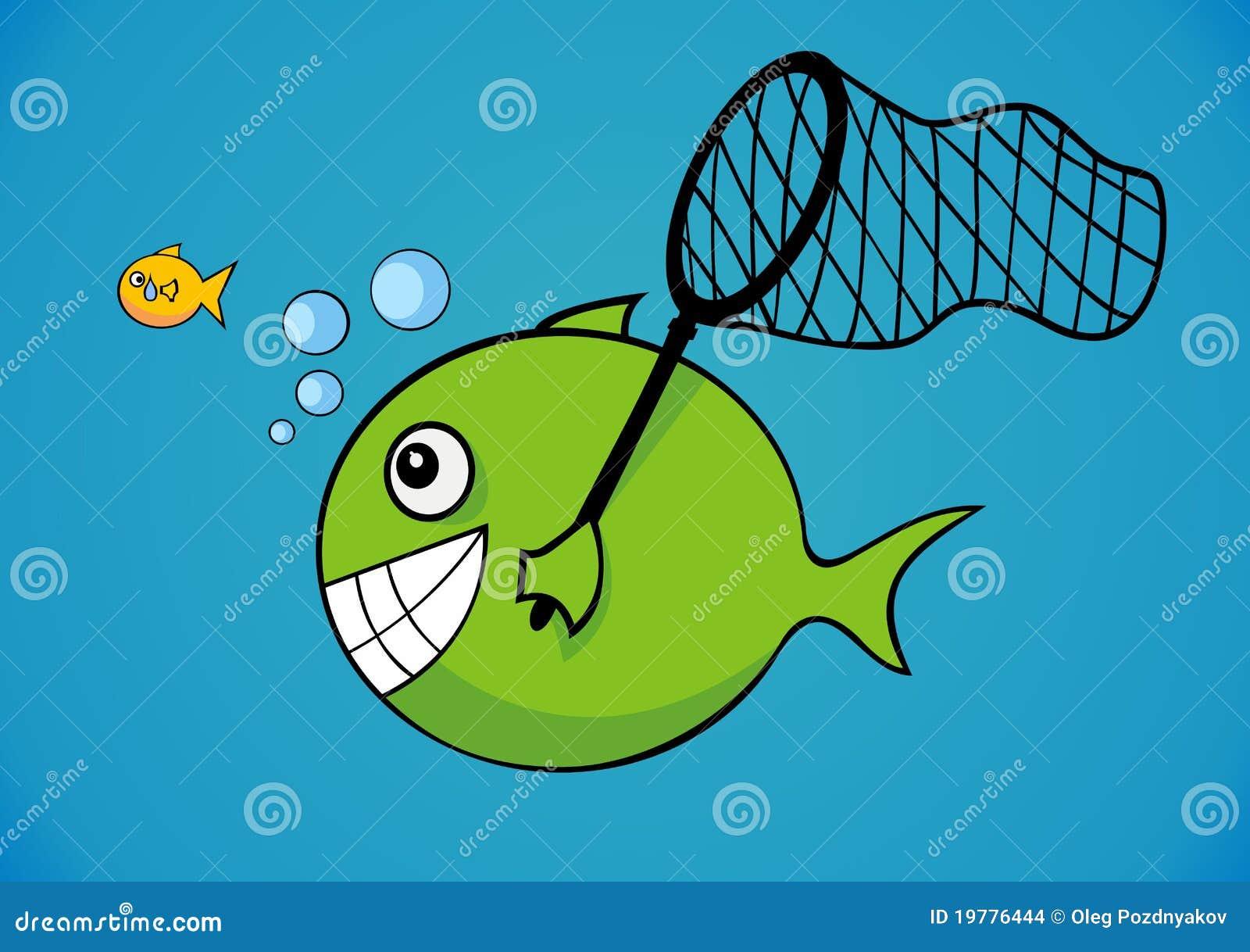 Stort och little fisk