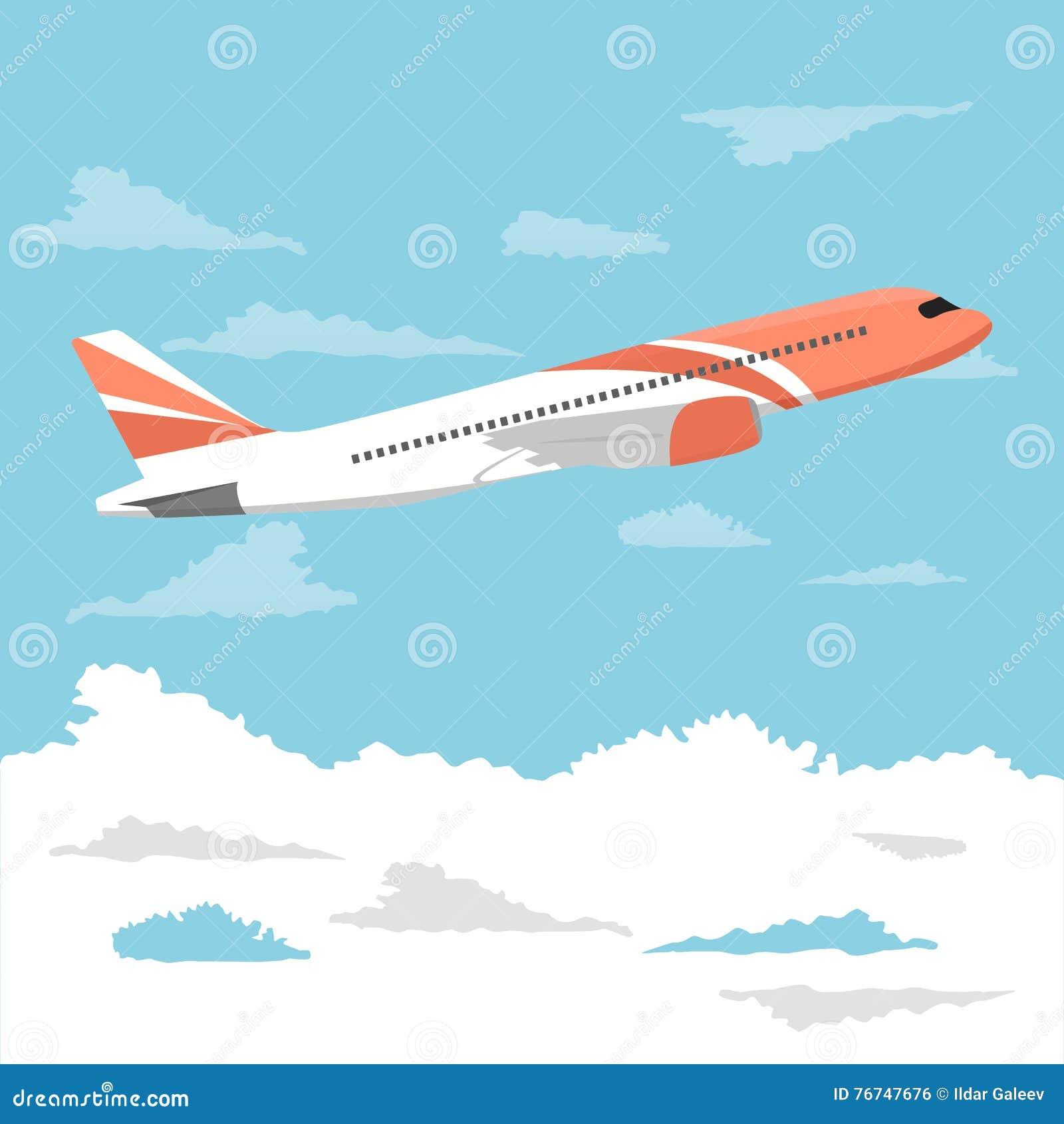 Stort passagerareflygplan som flyger över molnig himmel