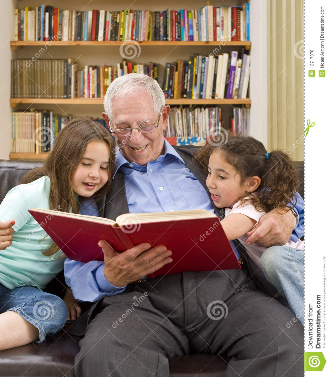 Story Time With Grandpa Stock Photo Image Of Education -4726