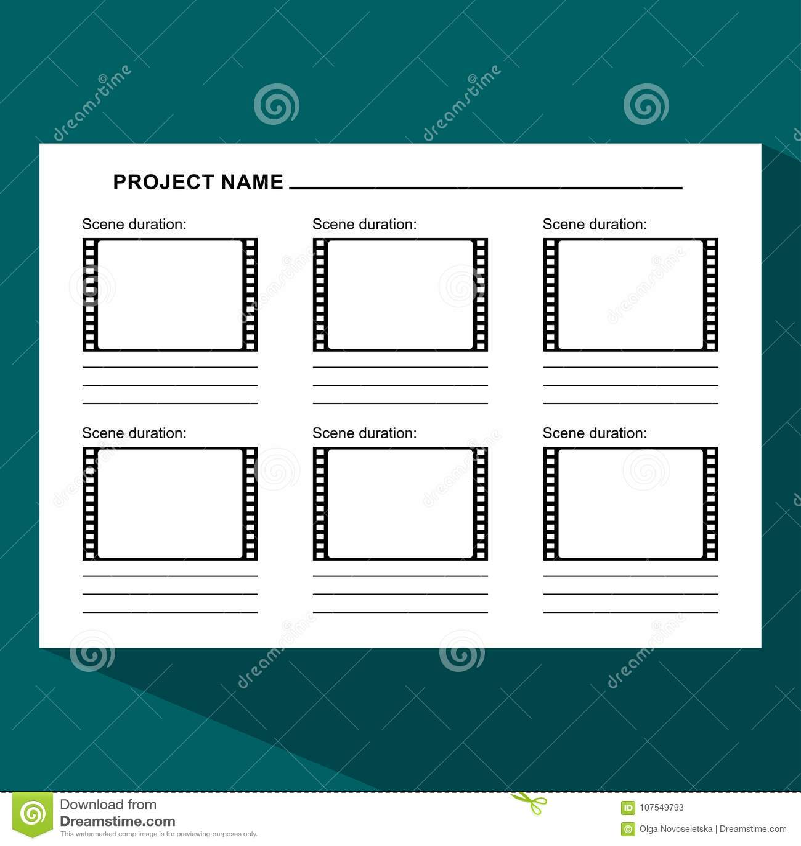 Storyboard template dark stock vector. Illustration of director ...