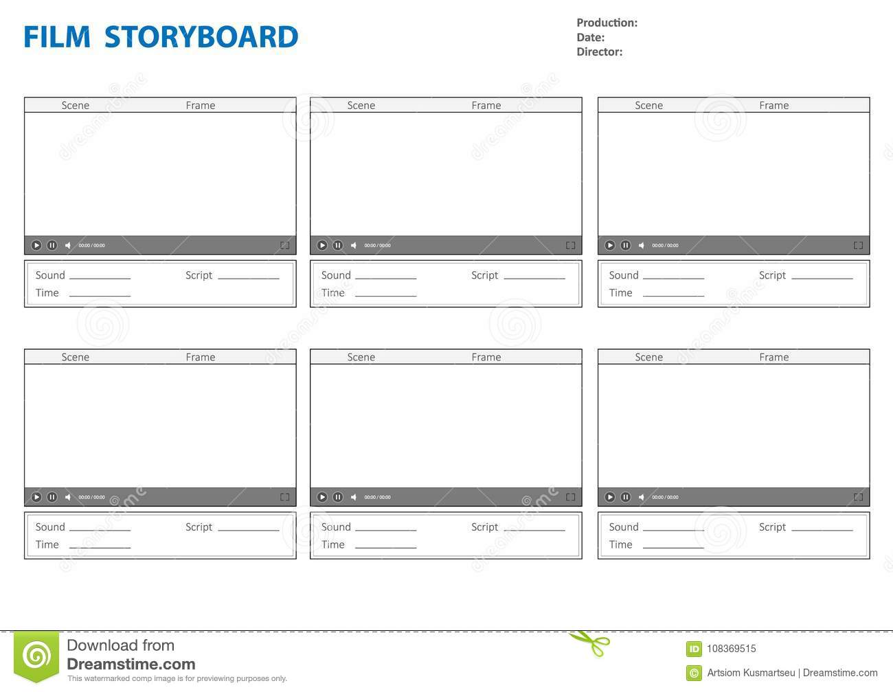 Stunning Video Storyboard Template Powerpoint Ideas - Example Resume ...
