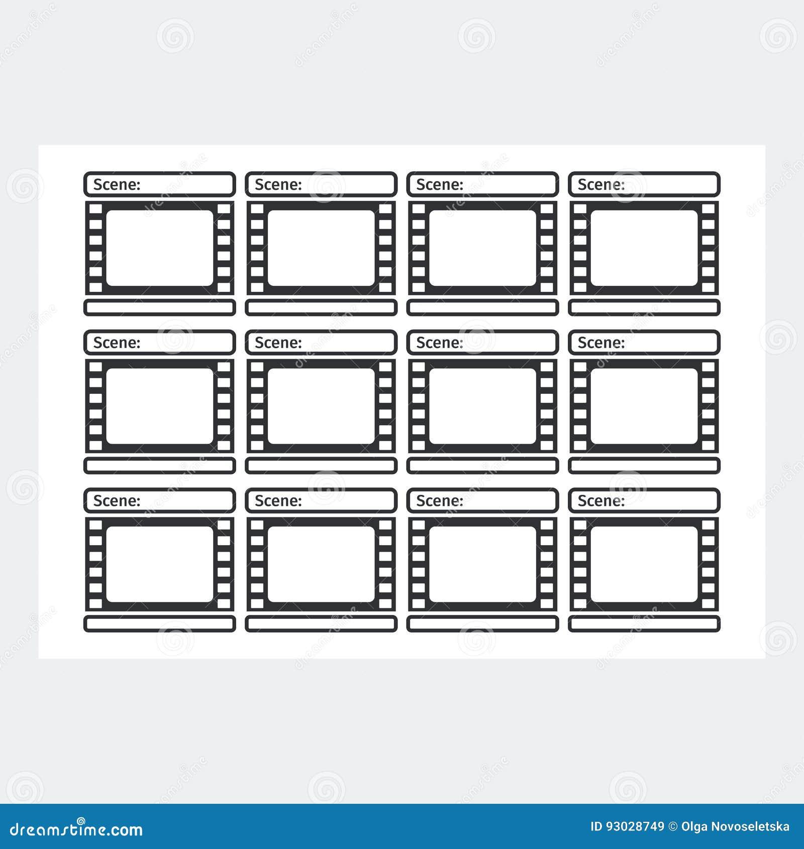 Storyboard template reel stock vector. Illustration of illustration ...