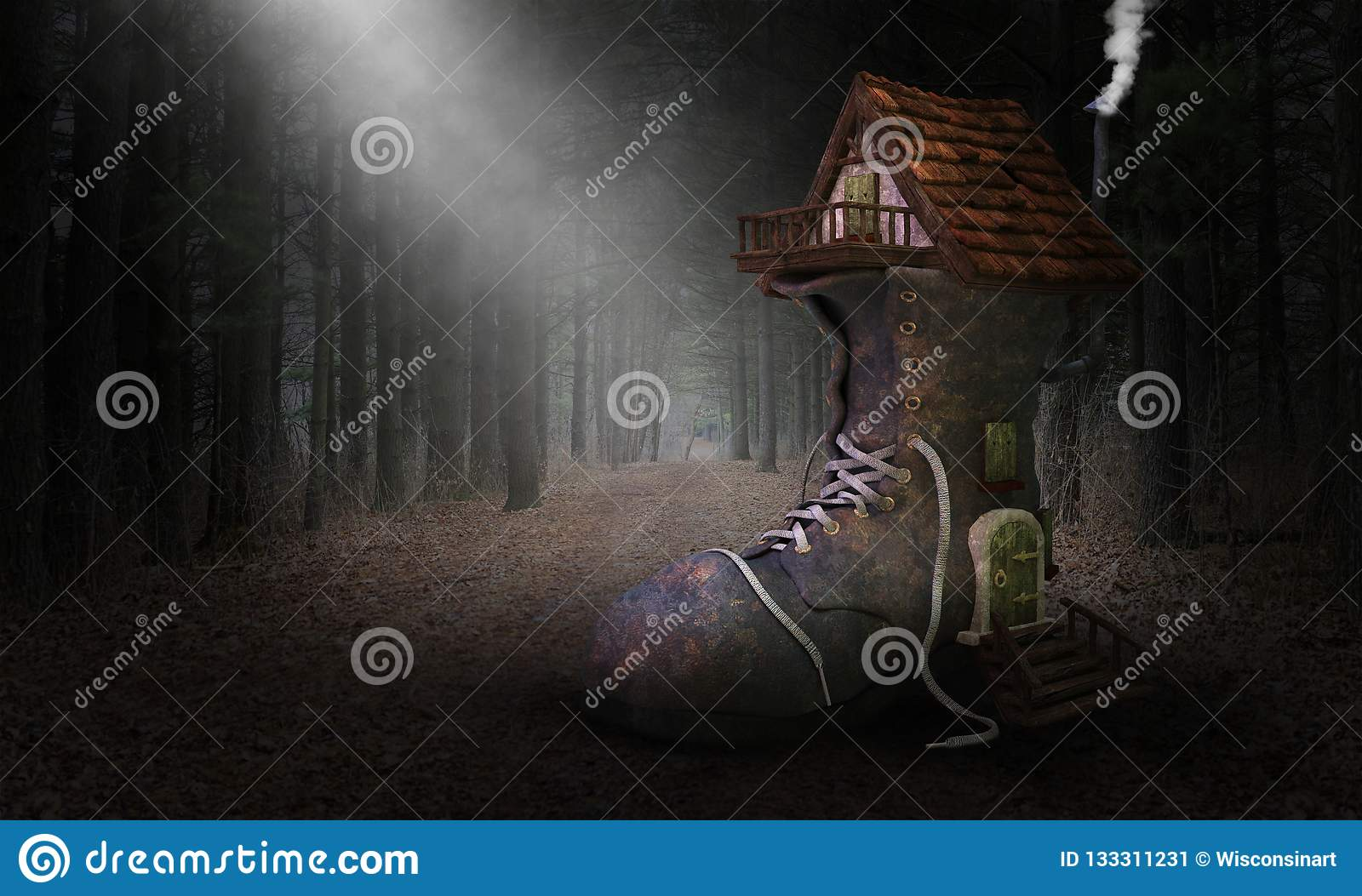 Storybook Fairytale Shoe House, Home, Forest, Woods