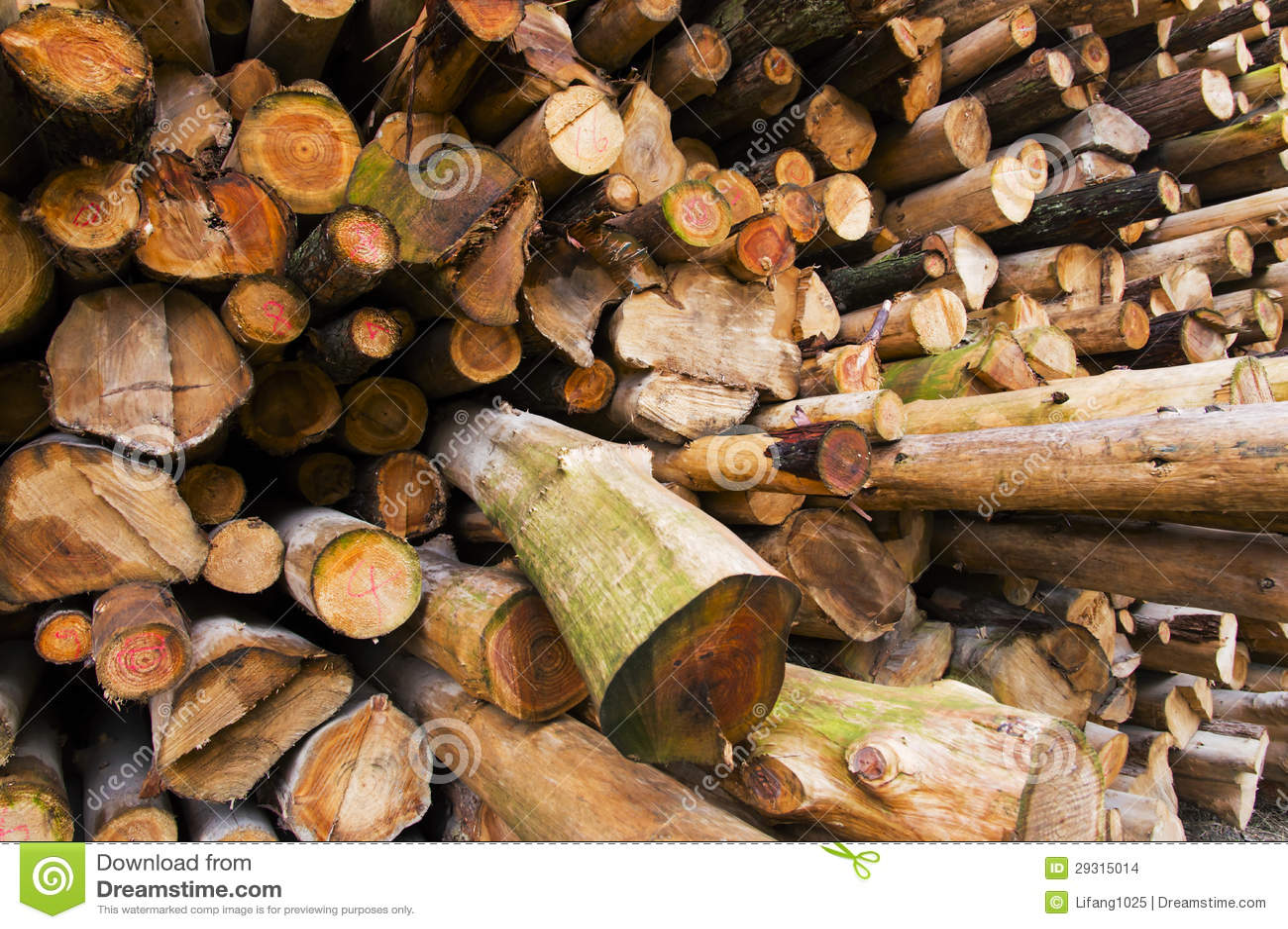 Stos drewno