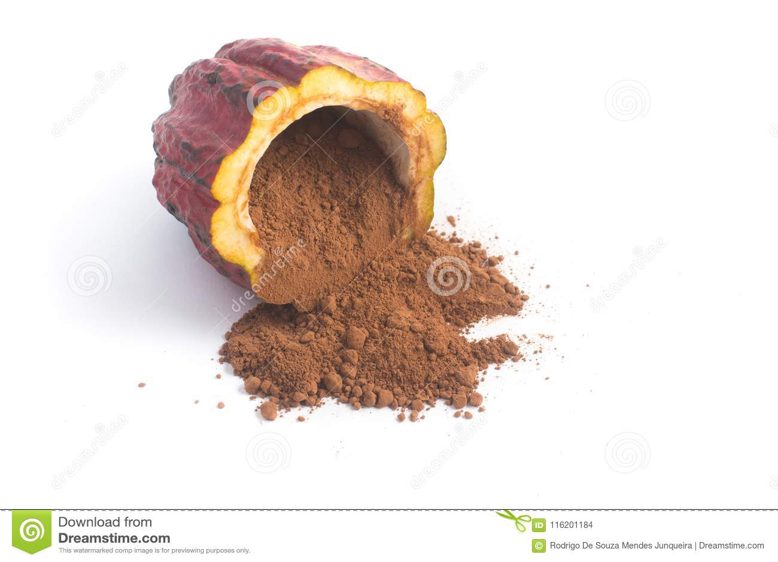 Stos kakaowy proszek