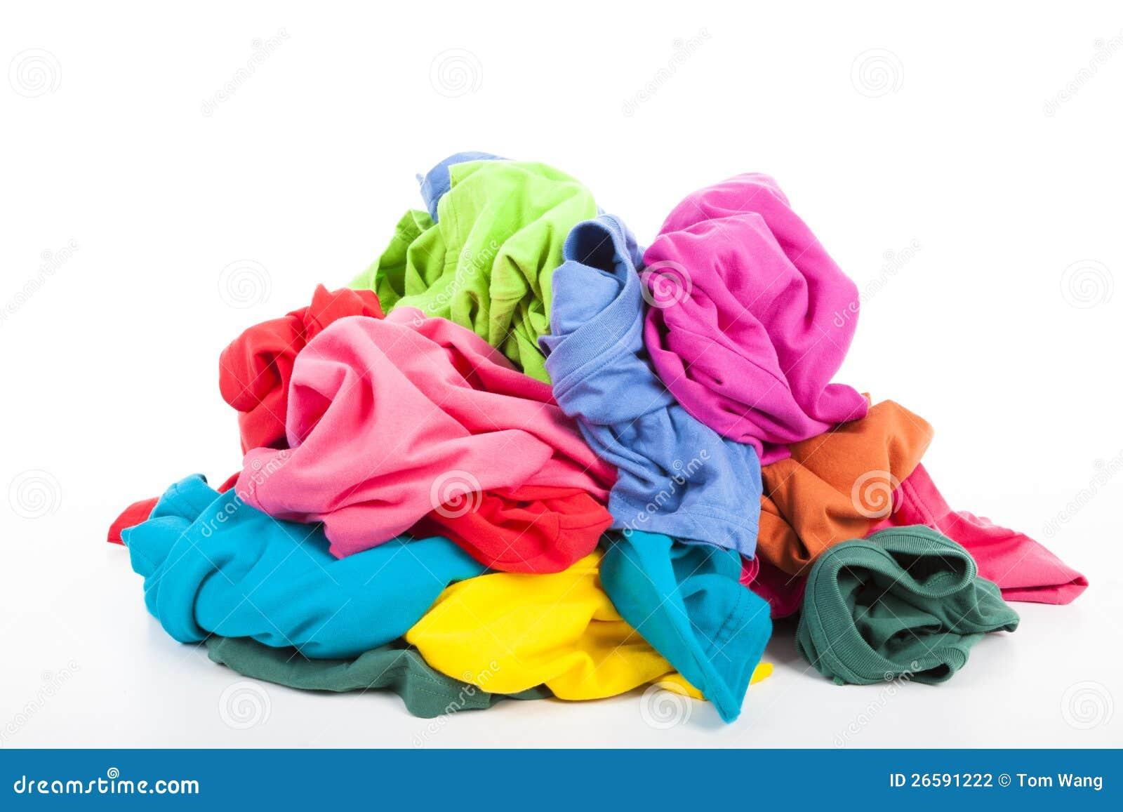 Stos kolorowy odziewa
