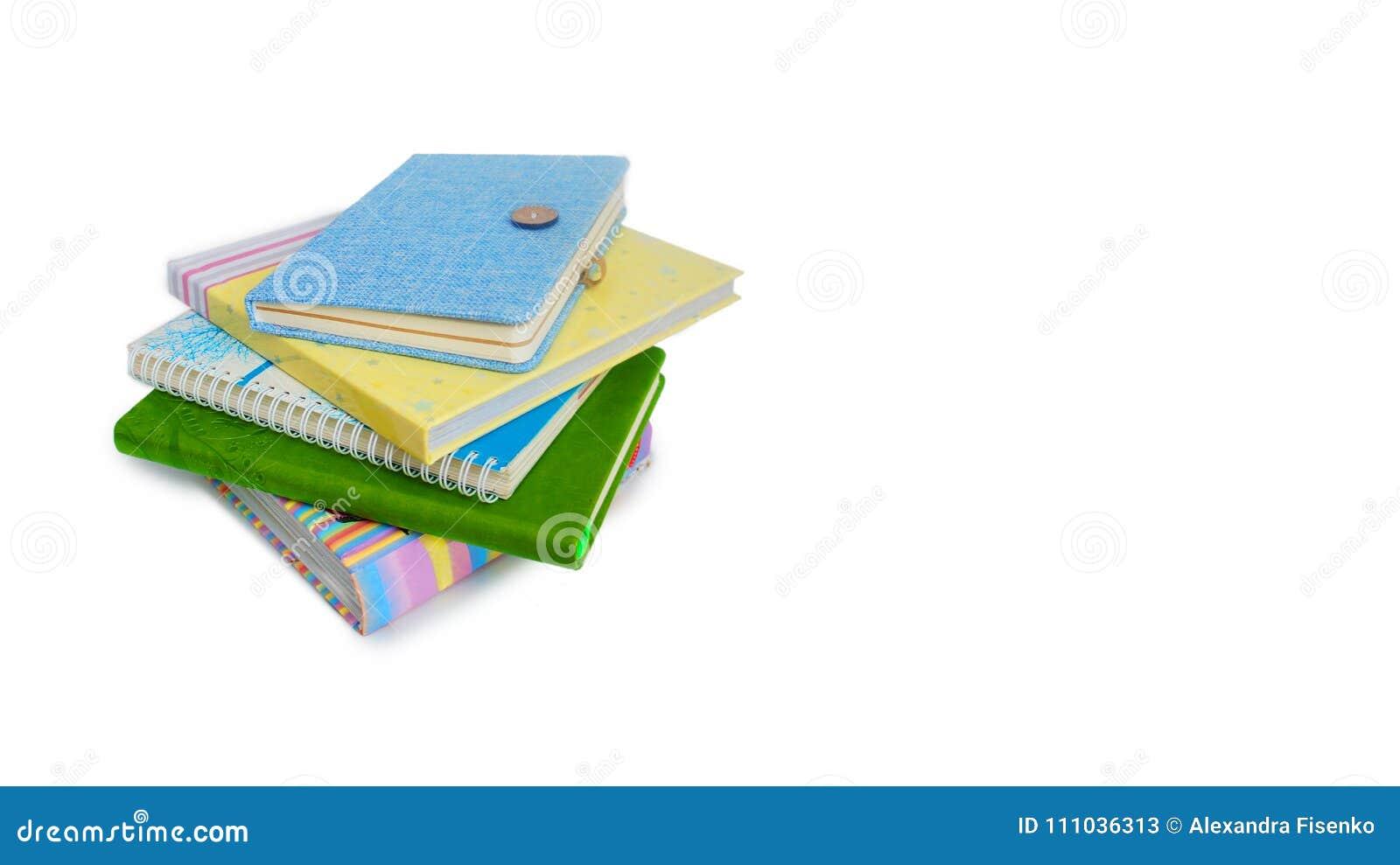 Stos książki i notatniki