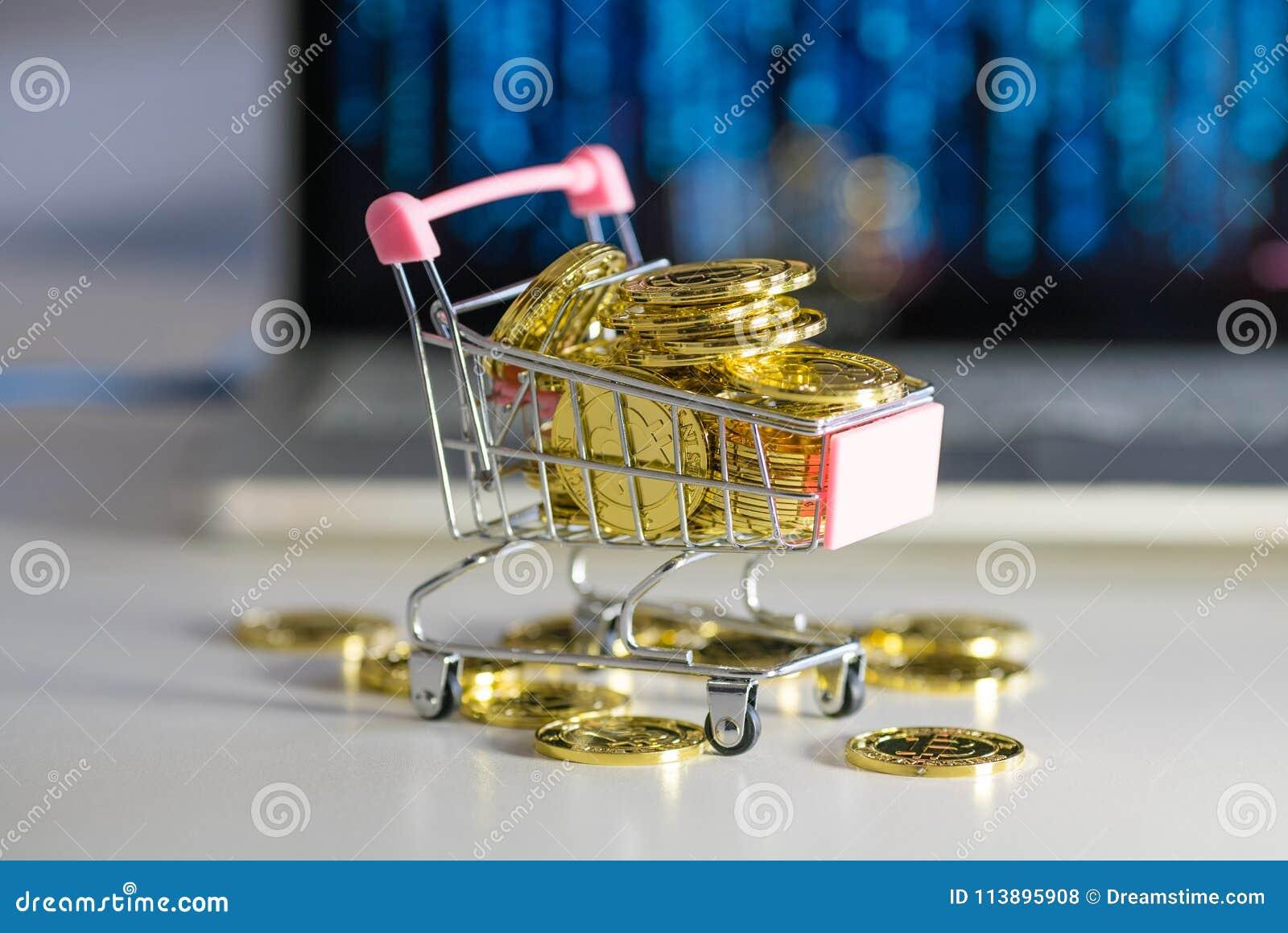 Stos monety Fura z bitcoin eksmituje