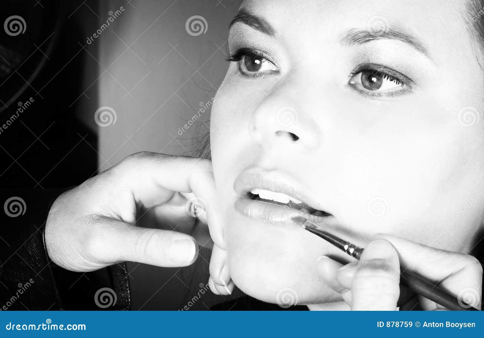 Stosowanie szminkę