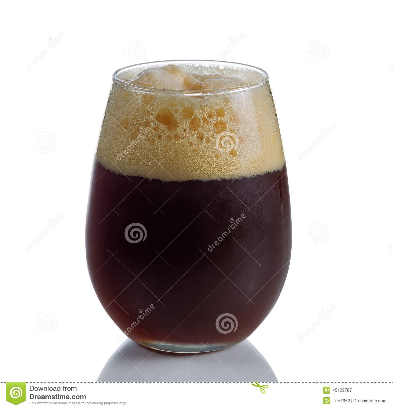 Stout Beer in Stemless Glass