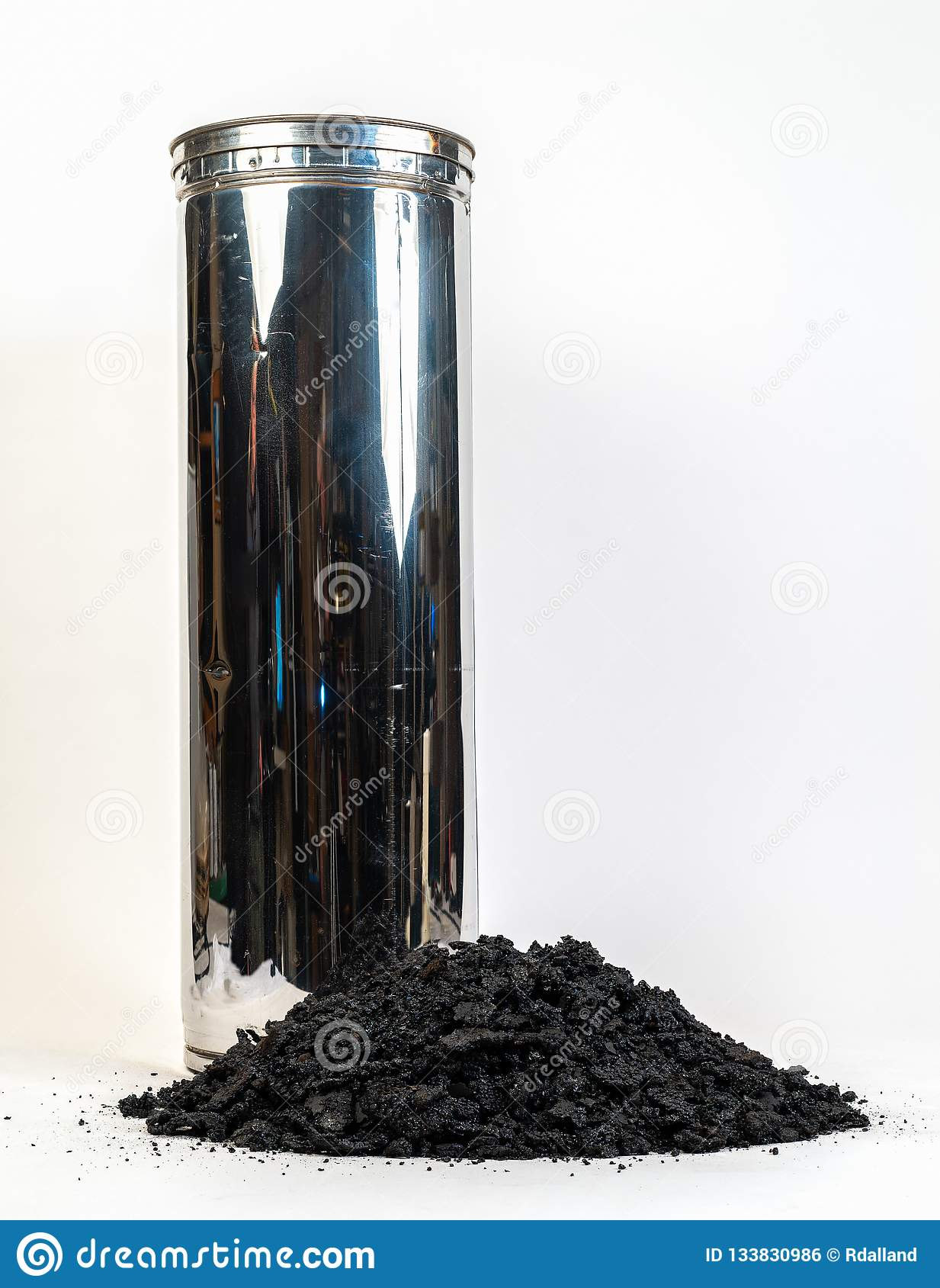 Stove pipe with Creosote  stock photo  Image of creosote