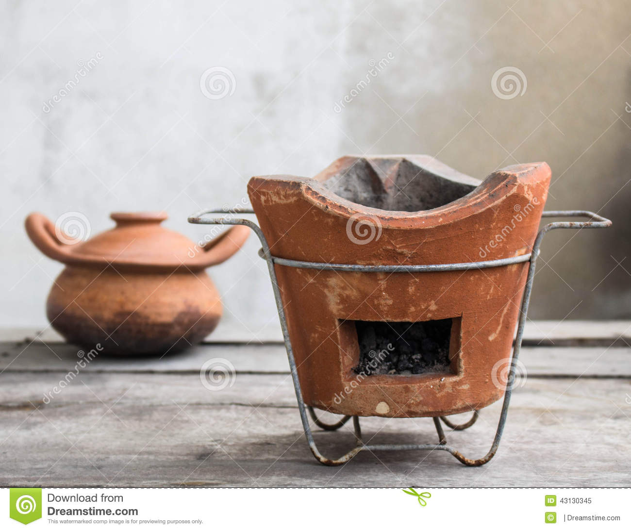 Stoves And Clay Pots Stock Photo Image 43130345