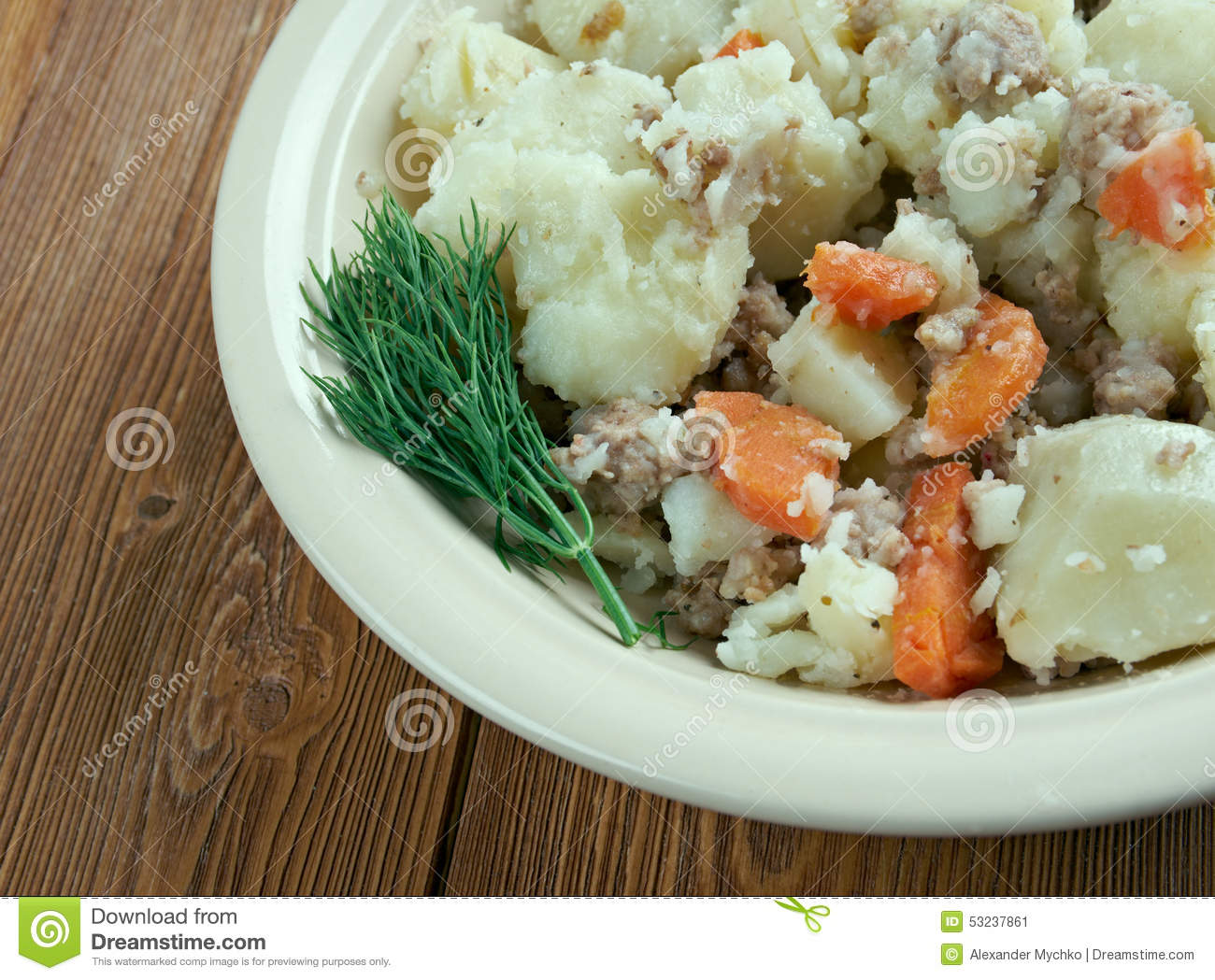 Stovies stock image  Image of beef, plate, traditional