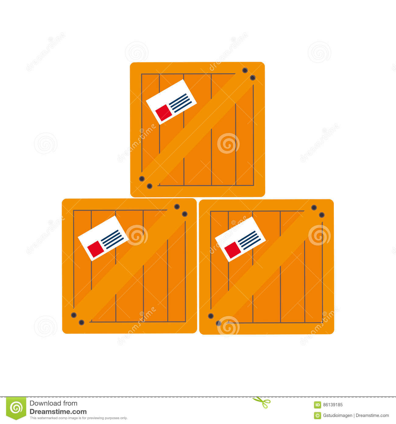 stowage boxes stacked and sealed cartoon vector stacked suitcase clipart Stacked Luggage Transparent Backround