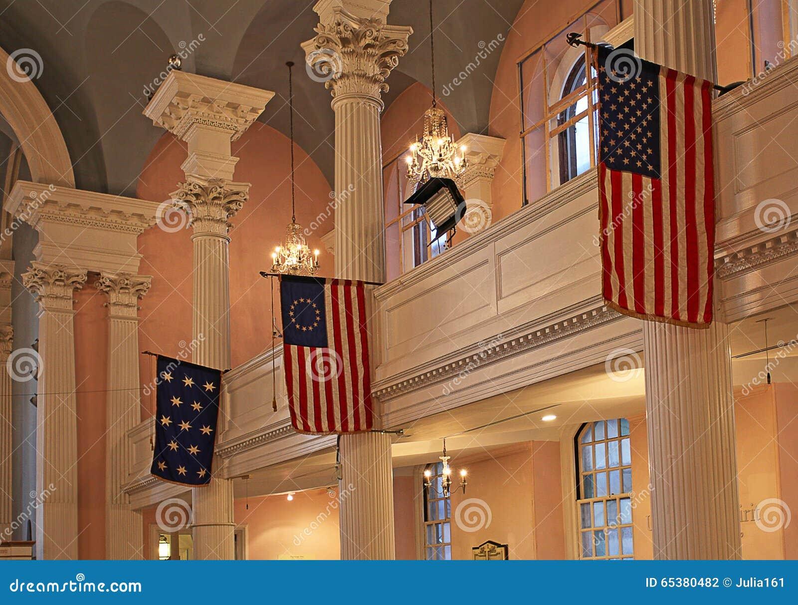 StPaulkapel binnen, New York, de V.S.