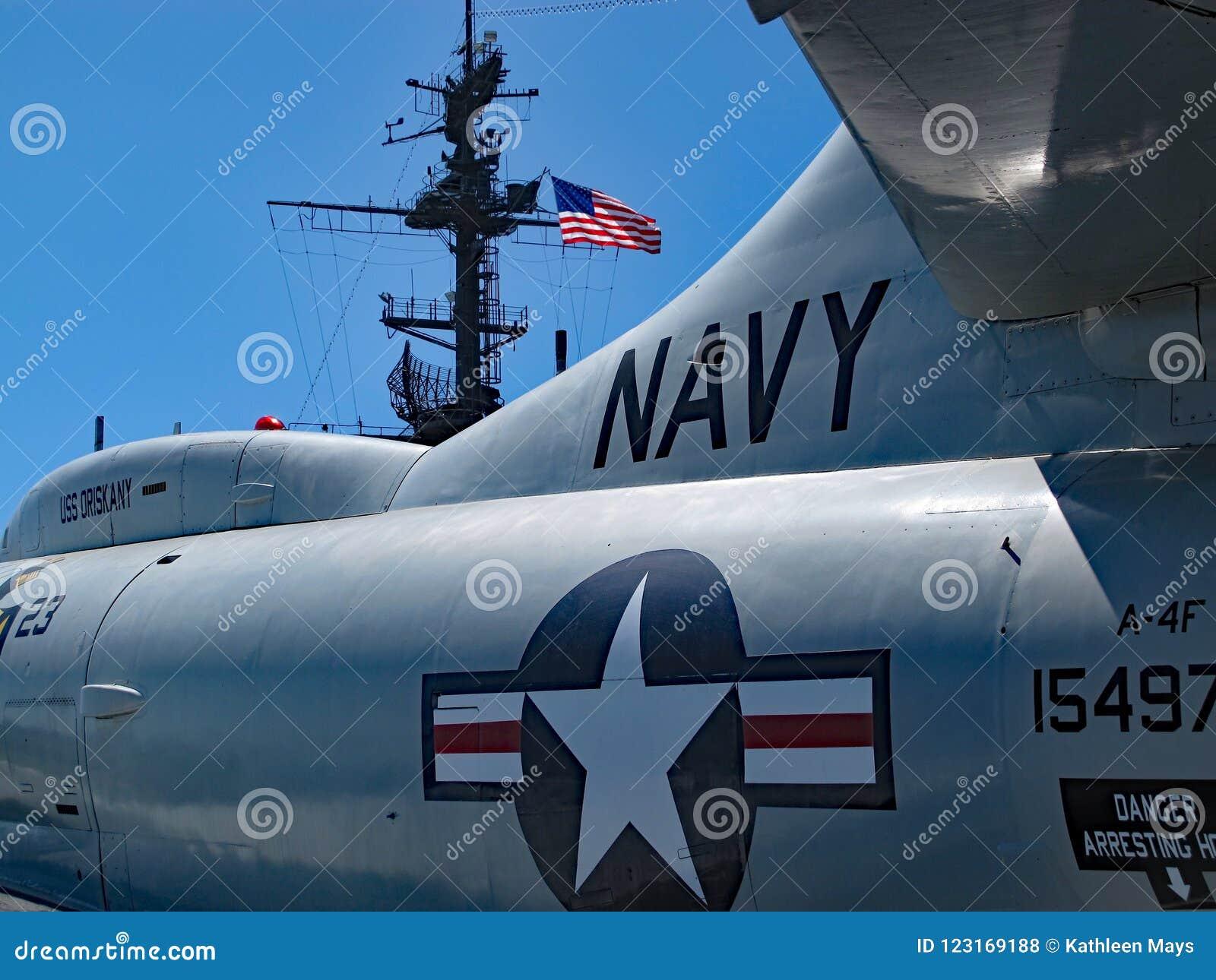 Stråle för Förenta staternamarin på USS nöjesgatamuseum