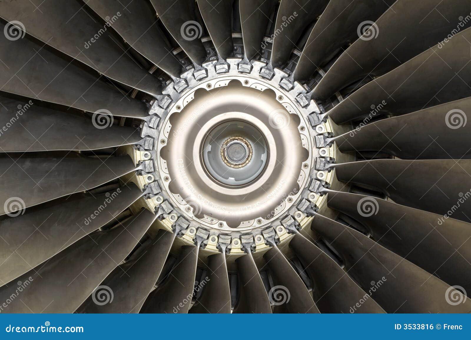Stråle för flygplandetaljmotor