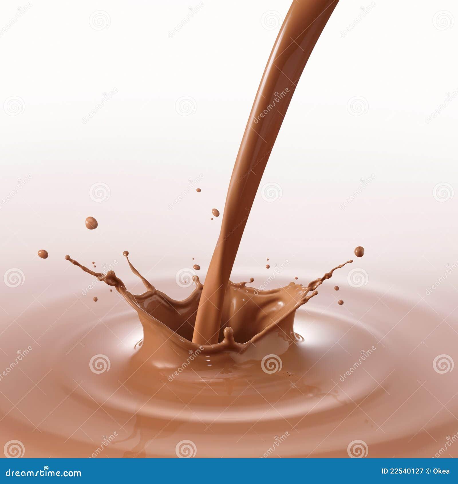 Strömende Schokolade