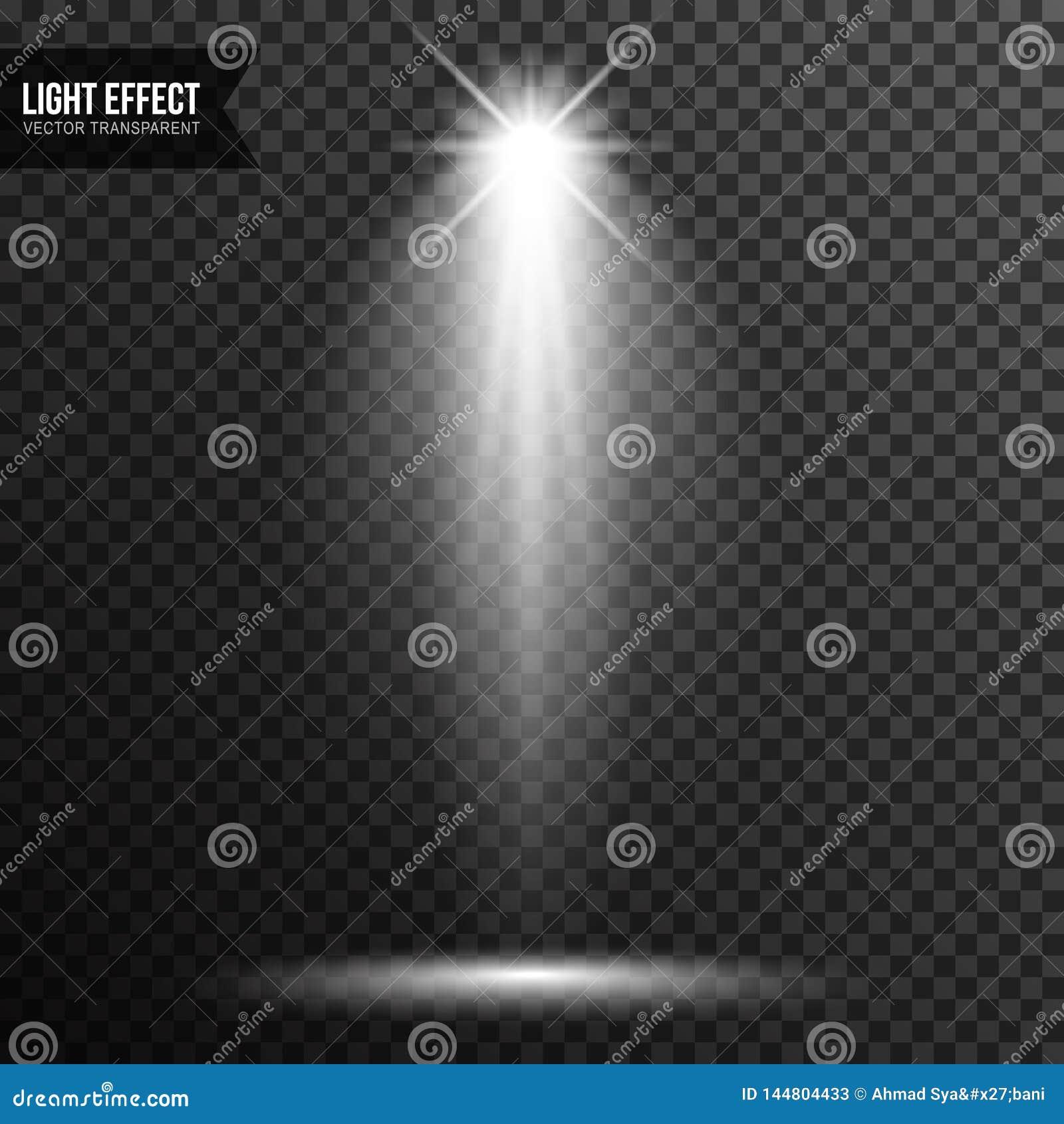 Str?lkastarebelysning, ljust ljus, etapp, genomskinlig podiumvektor