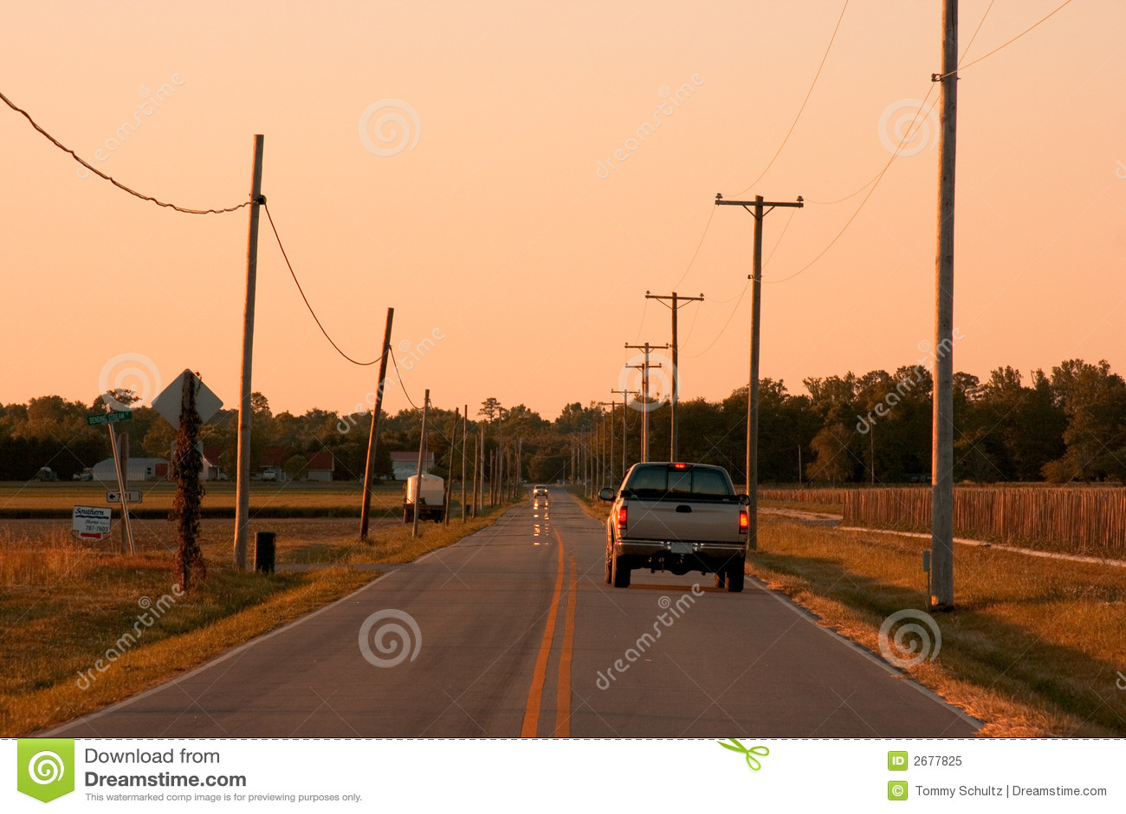 Straße des offenen Landes