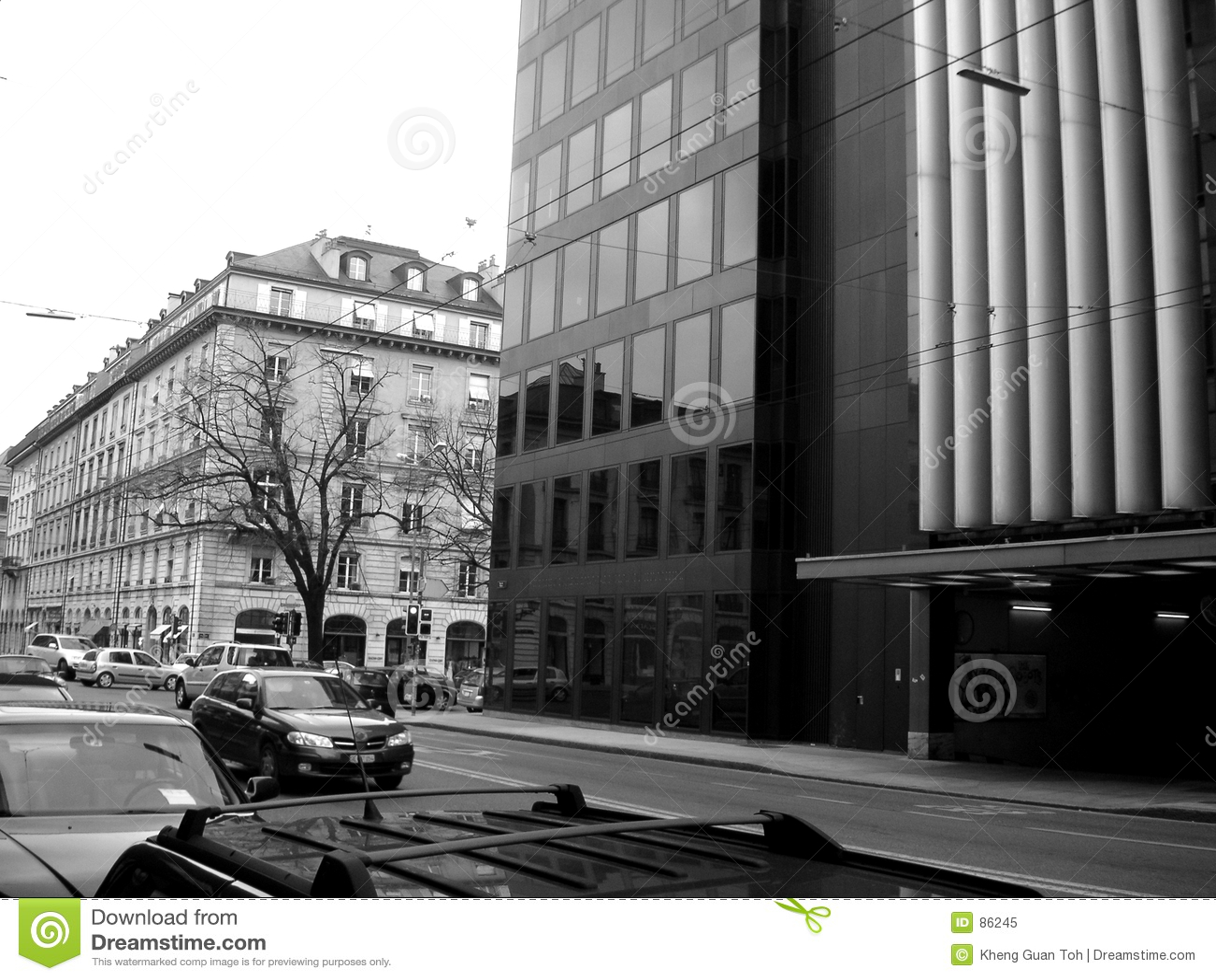 Straße in Genf