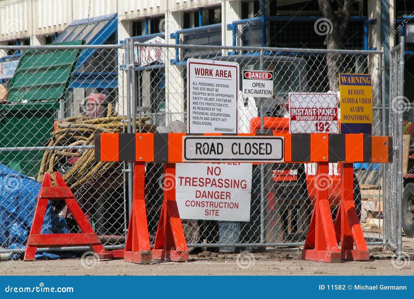 Straße geschlossen