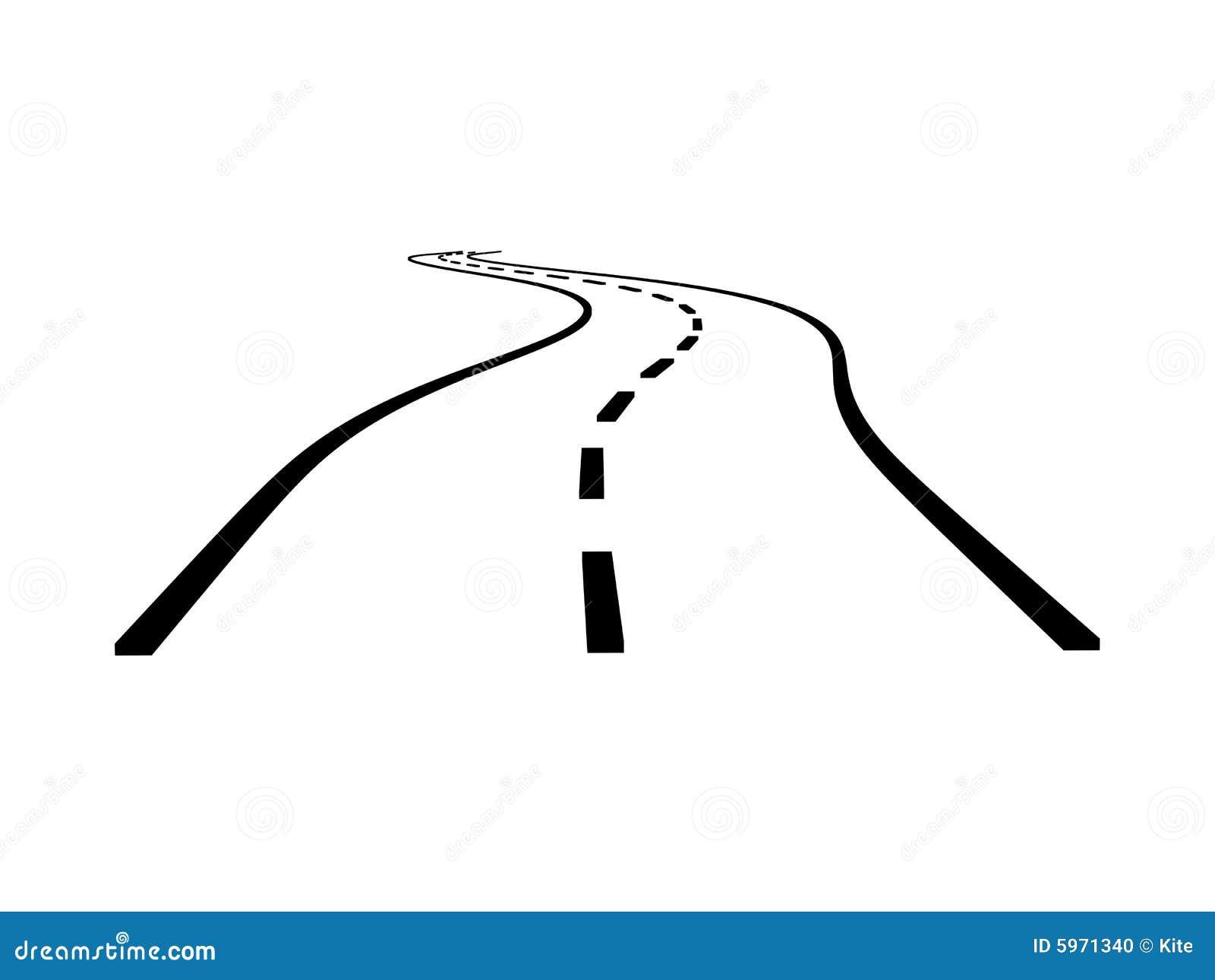 Straße mit Kurve stock abbildung. Illustration von richtung - 5971340