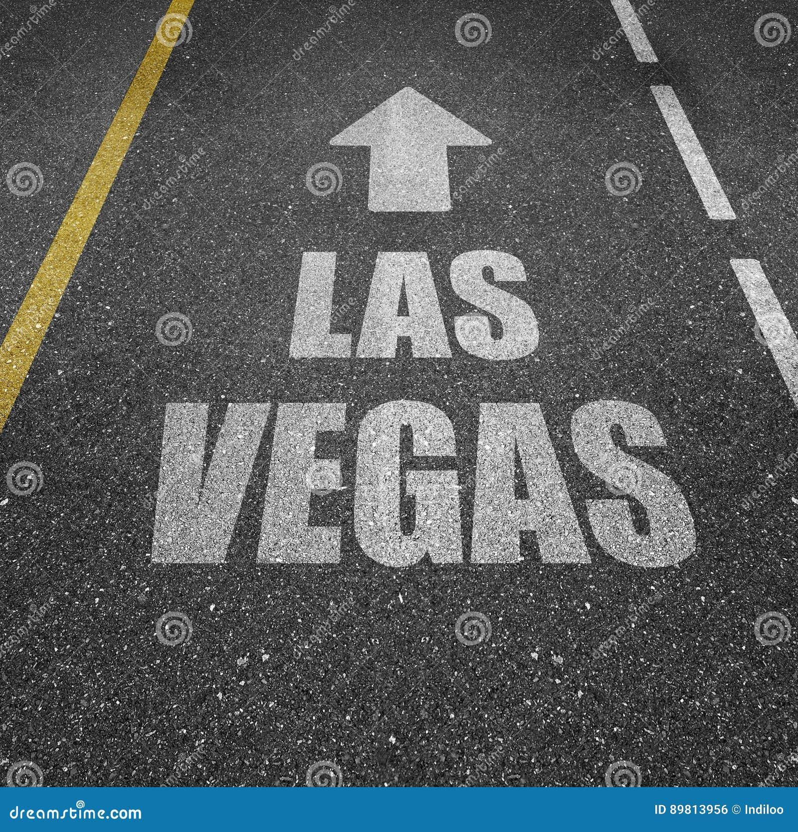Straße Nach Las Vegas Stockfoto Bild Von Reise Begrifflich 89813956
