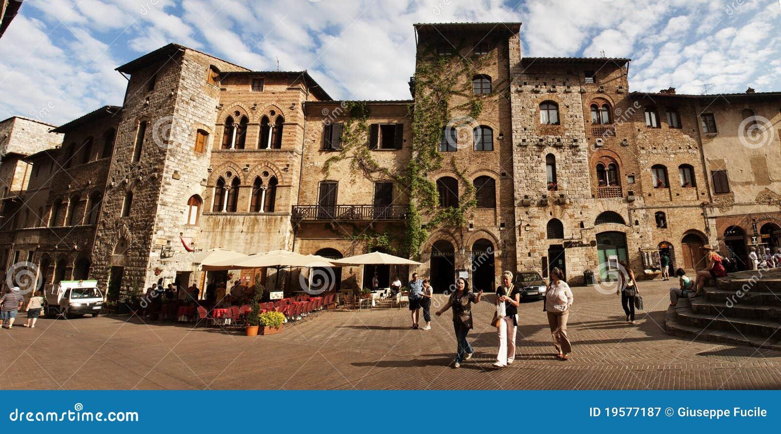Straße in San Gimignano