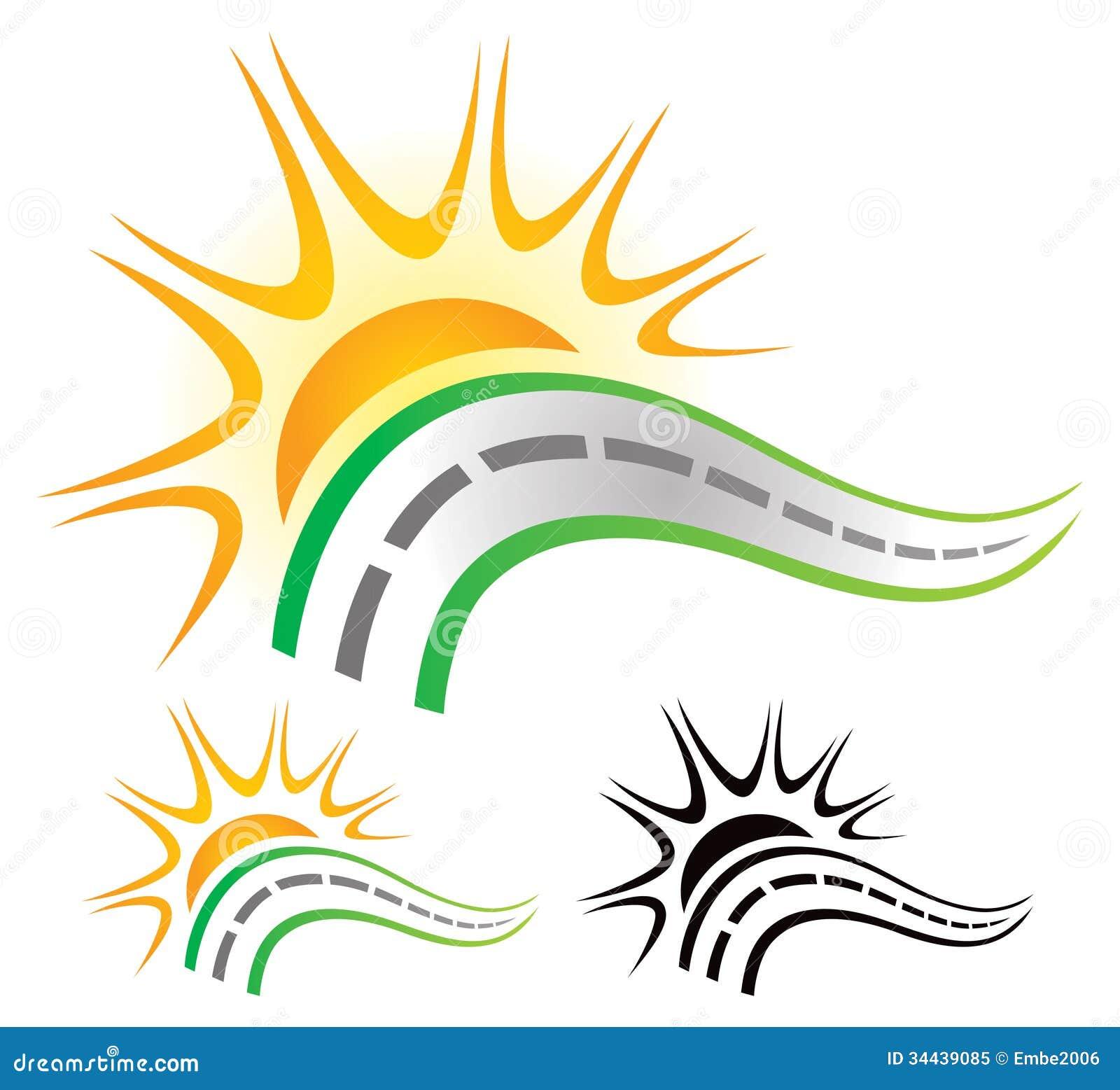 Straße Sun-Logo