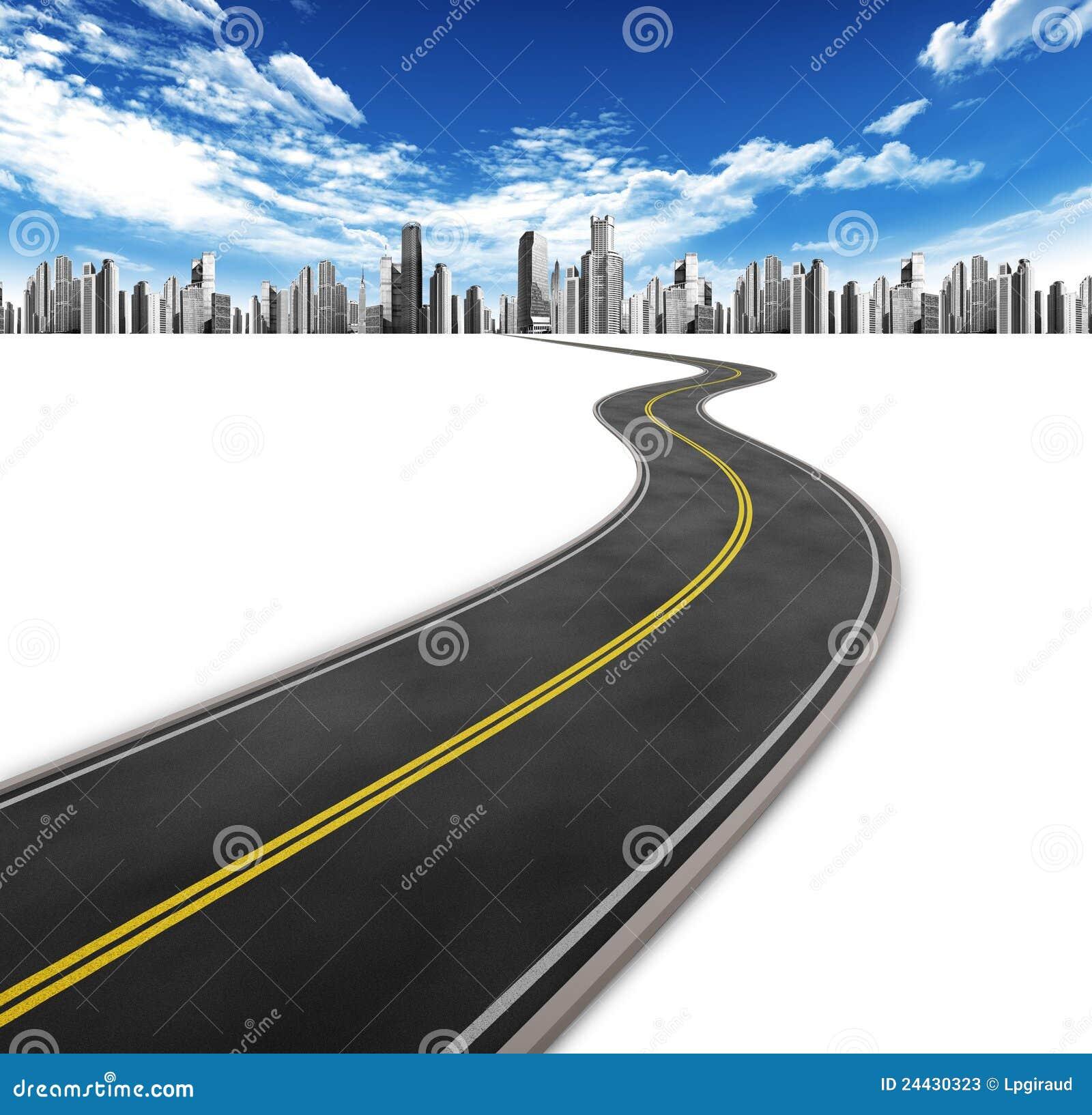 Straße und Stadt