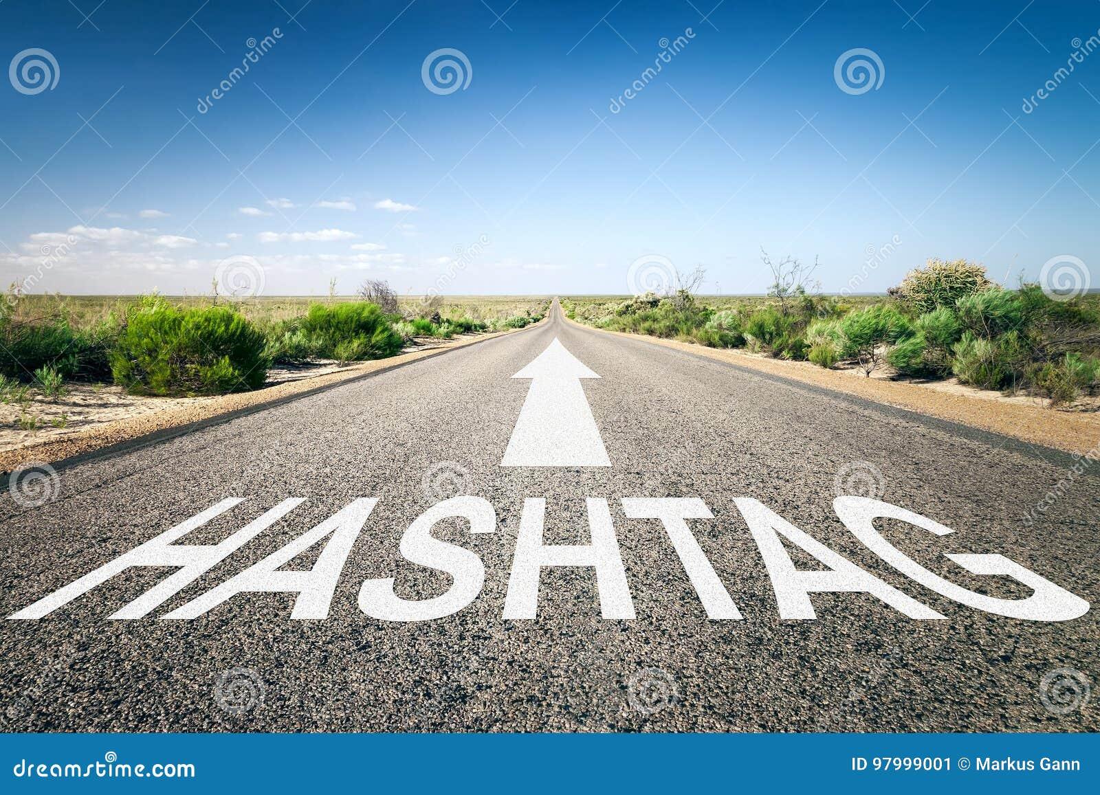 Straße zu Horizont hashtag