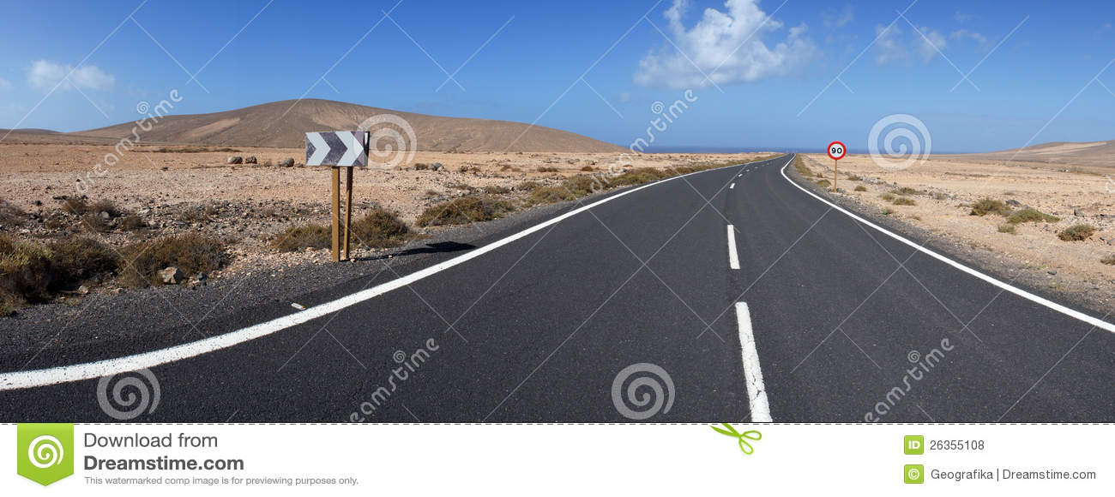 Straße zu Los Molinos, Fuerteventura, Kanarische Inseln