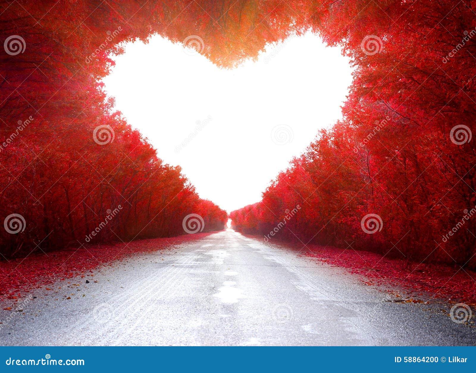 Straße zum zu lieben
