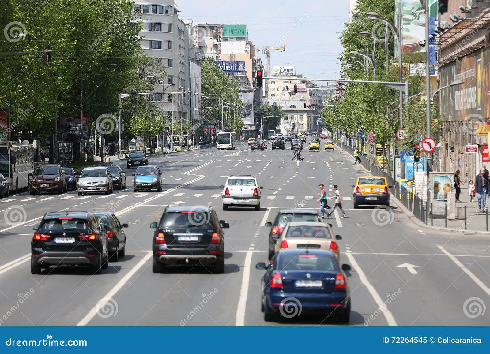 Straßen in Bukarest