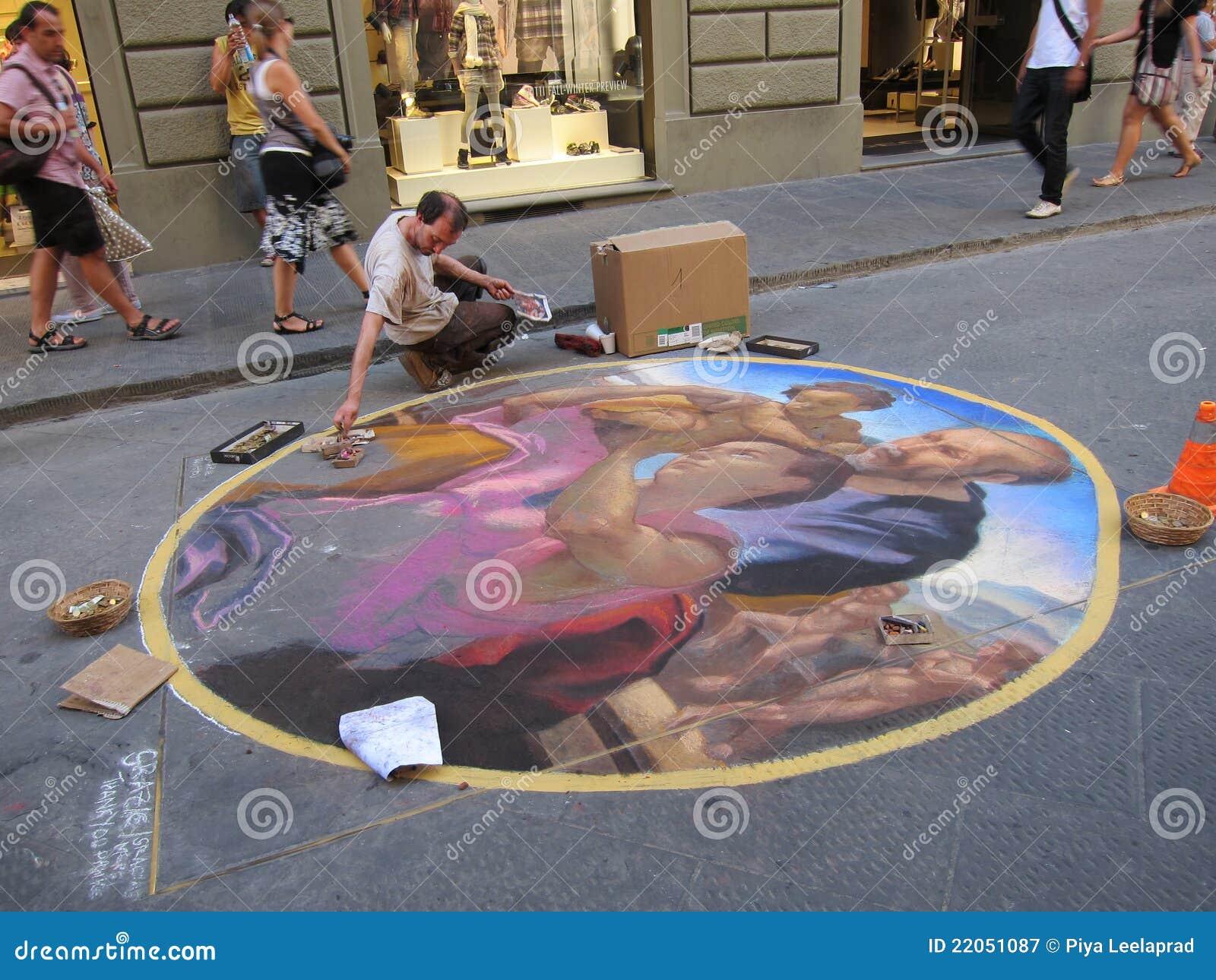 Straßen-Kunst in Florenz