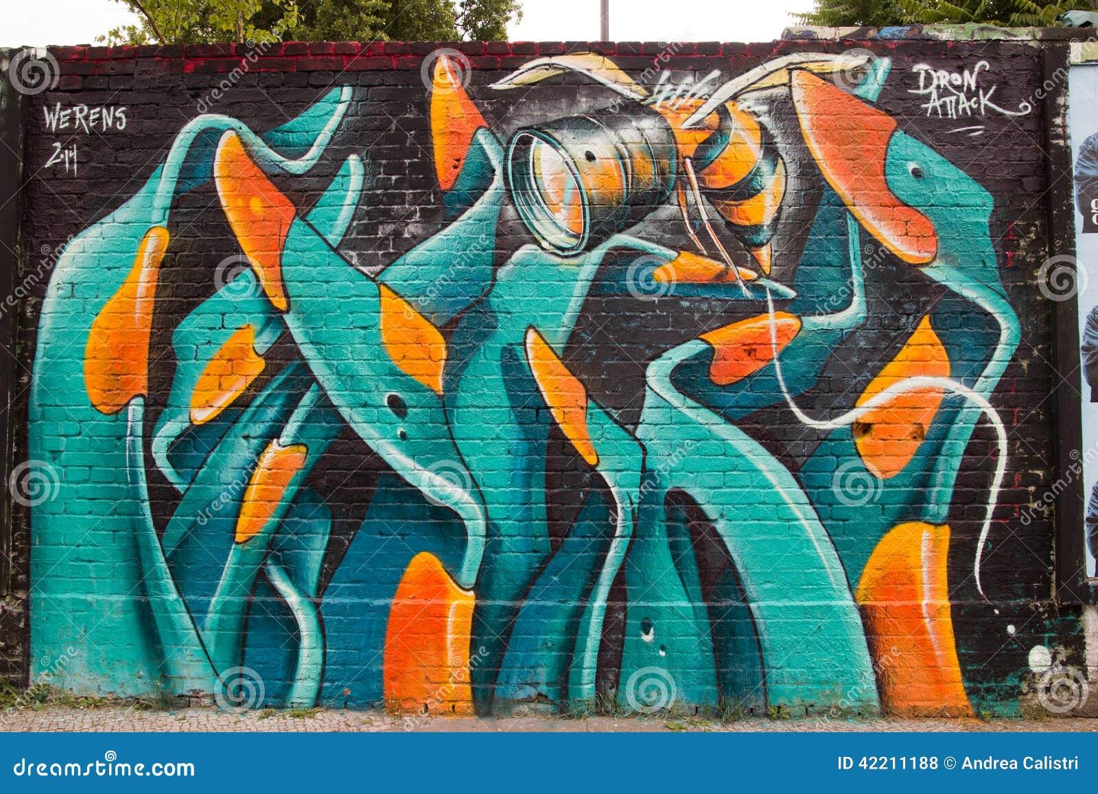 Strassen Kunst Und Graffiti In Berlin Deutschland Redaktionelles